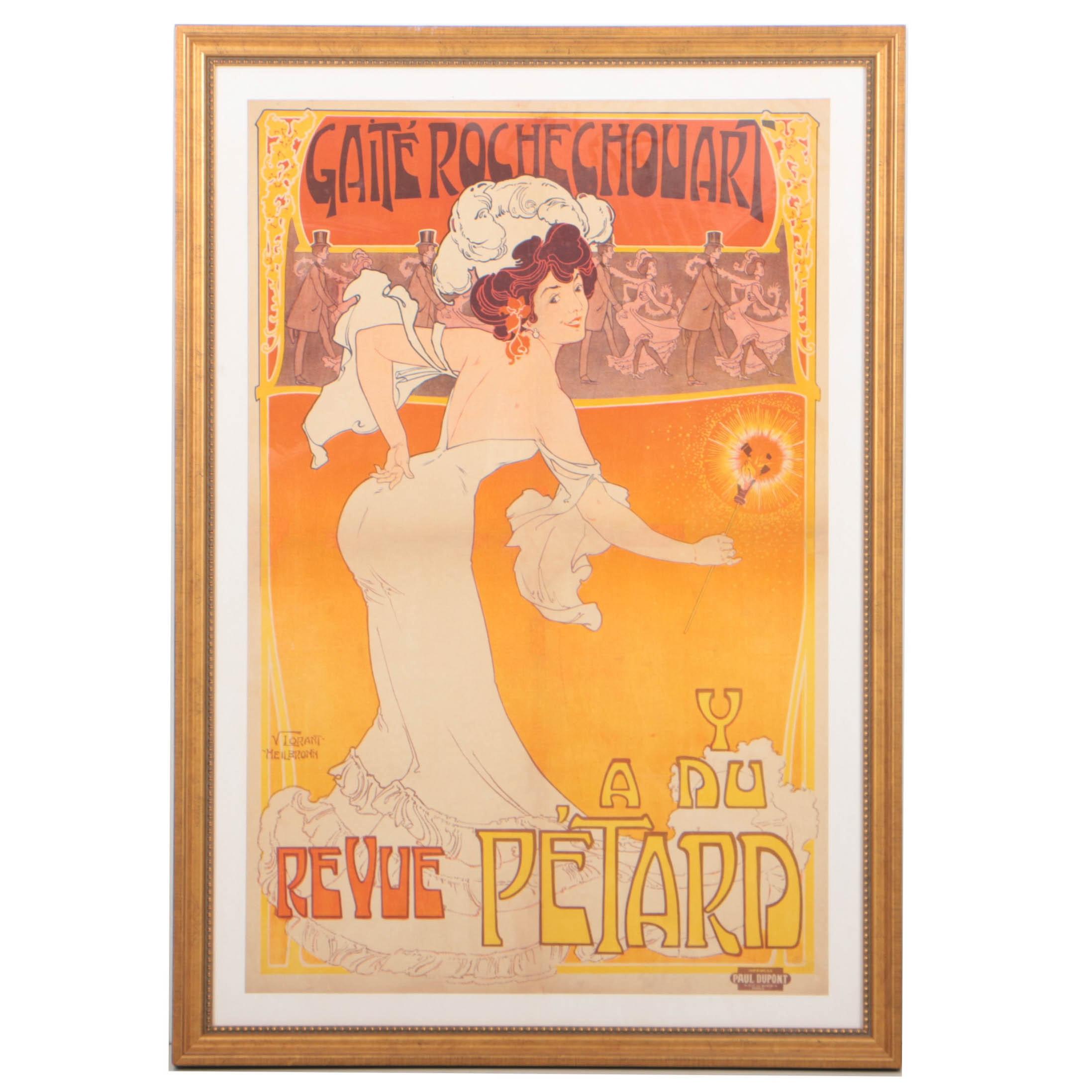 Circa 1890 Art Nouveau Lithograph Poster Designed by Vincent Lorant-Heilbronn