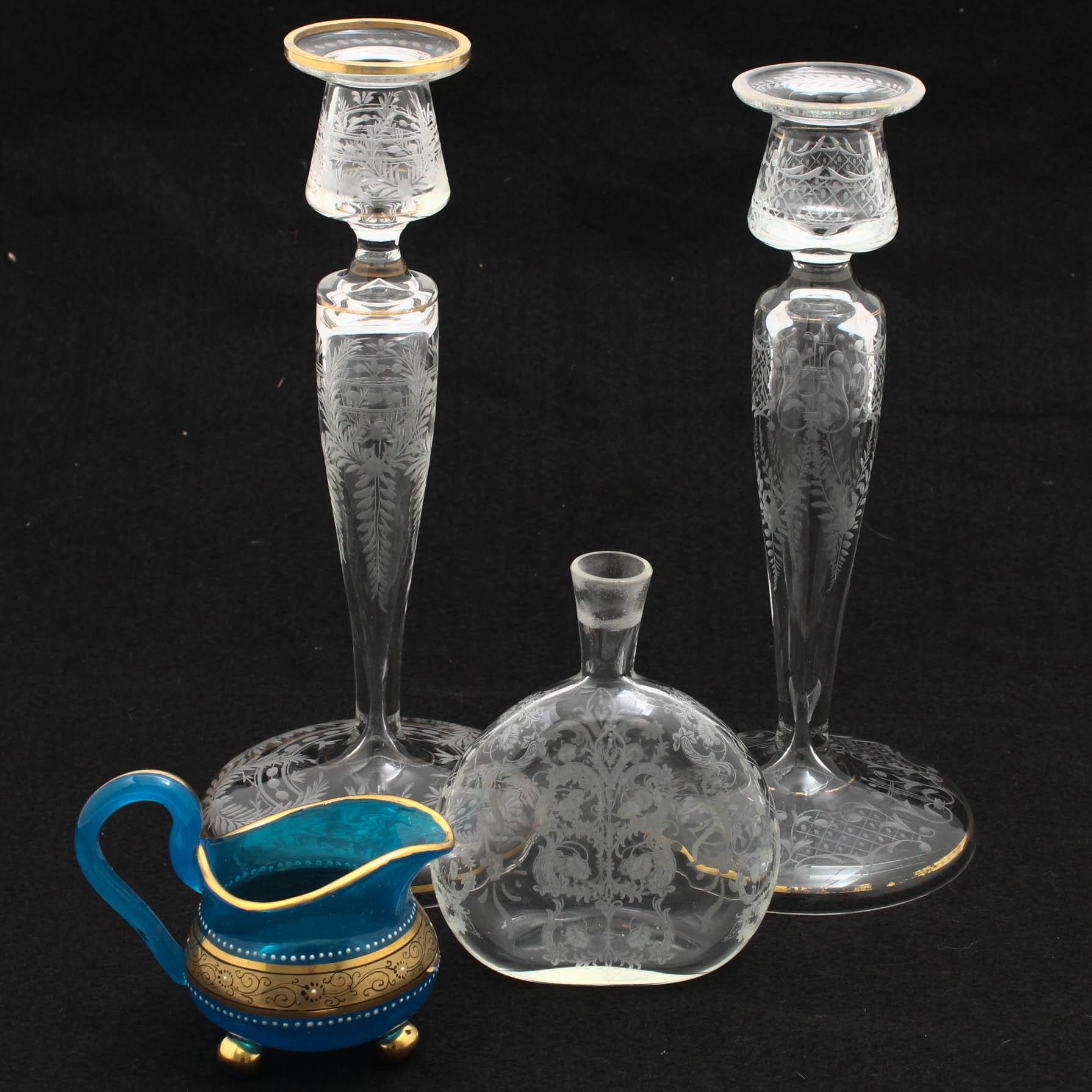 Etched Decorative Glassware