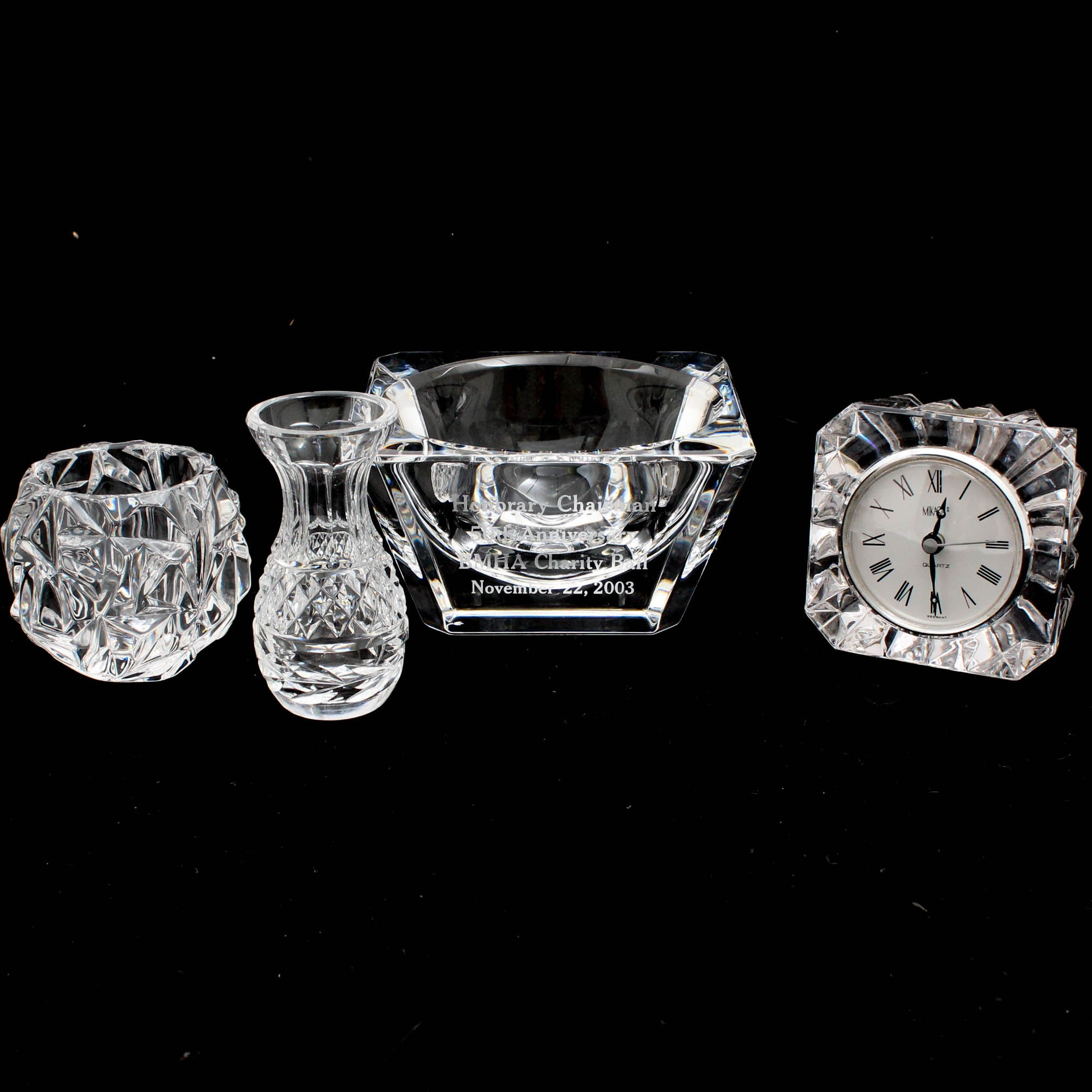 Waterford Crystal, Tiffany & Co., and Mikasa Tableware