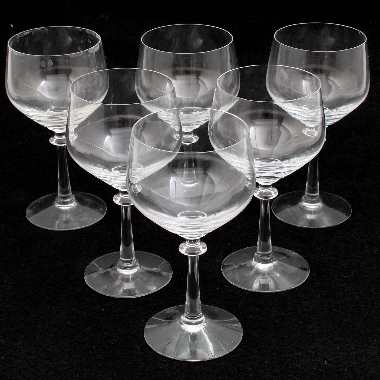 "Fostoria ""Eloquence"" Clear Crystal Water Goblets"