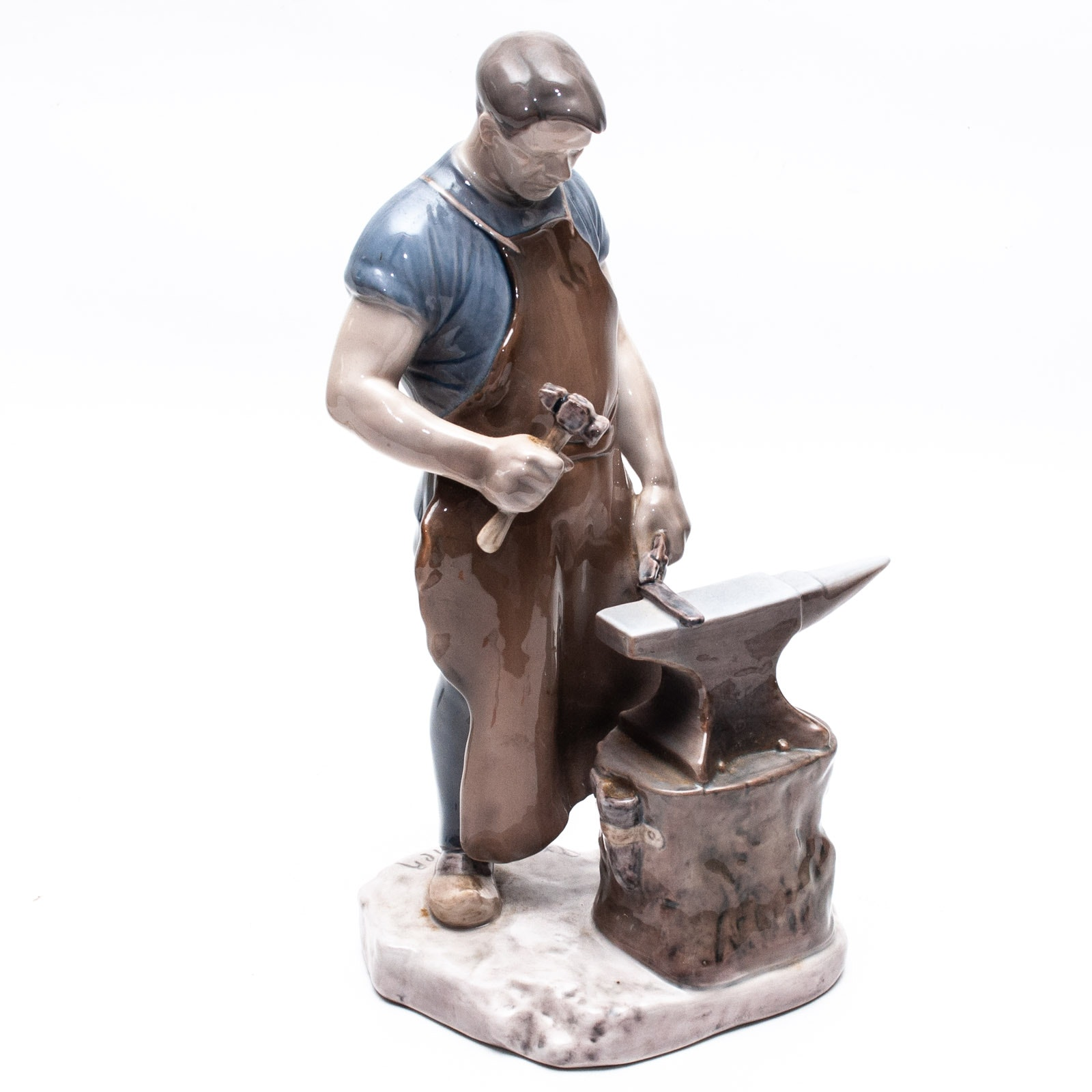 "Bing & Grøndahl ""The Blacksmith"" Porcelain Figurine by Axel Locher"