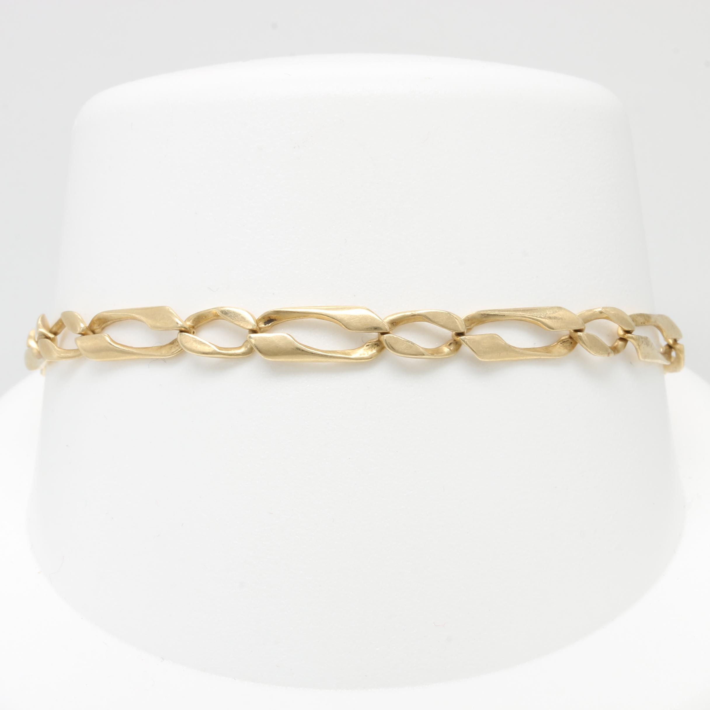 Scrap 14K and 18K Yellow Gold Bracelet