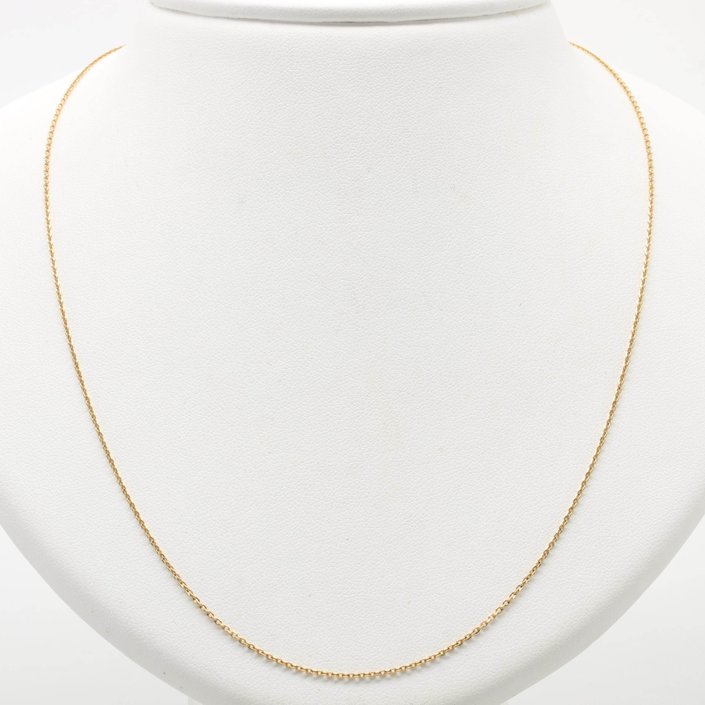 18K Yellow Gold Cable Link Chain Necklace