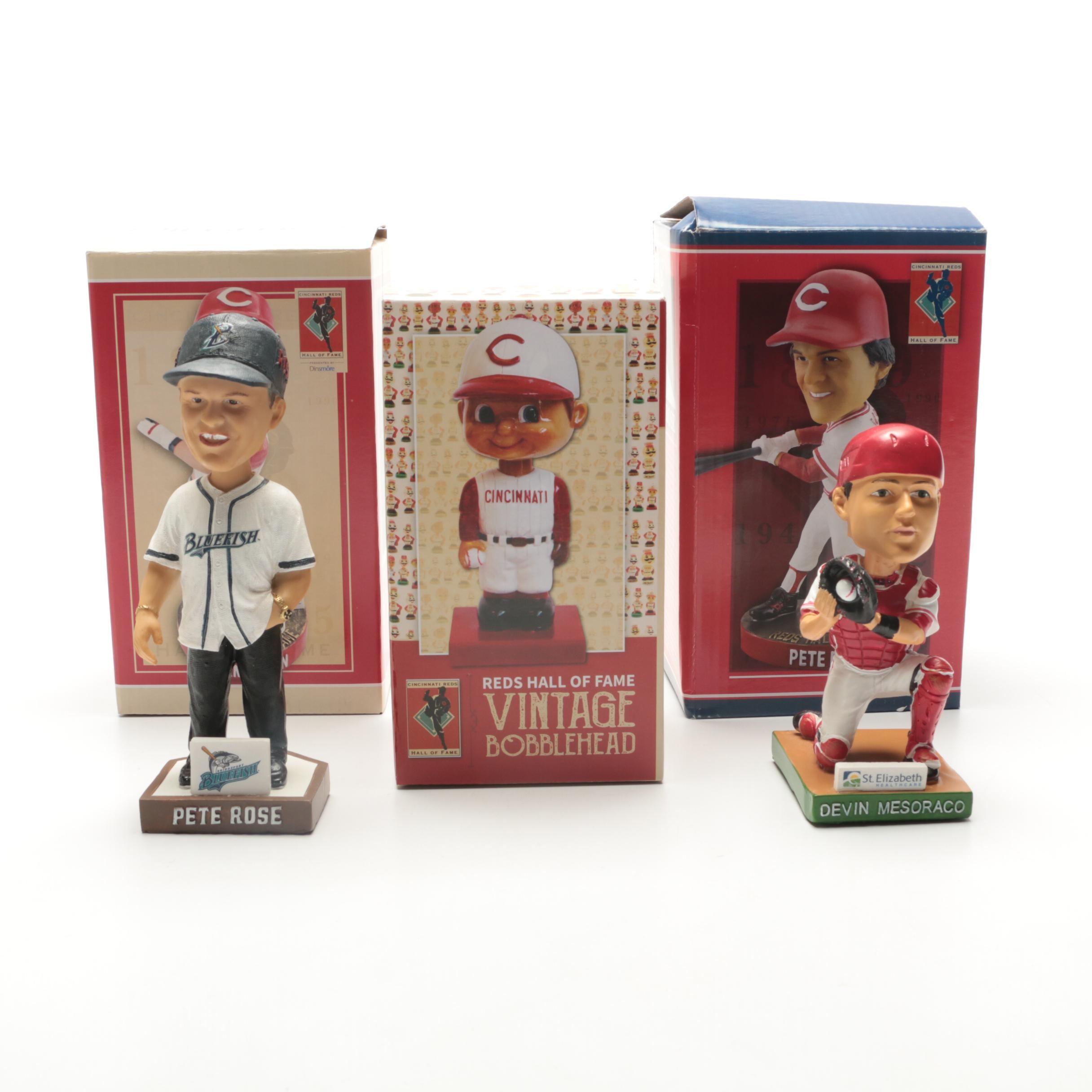 Five Cincinnati Reds Player Bobblehead Dolls