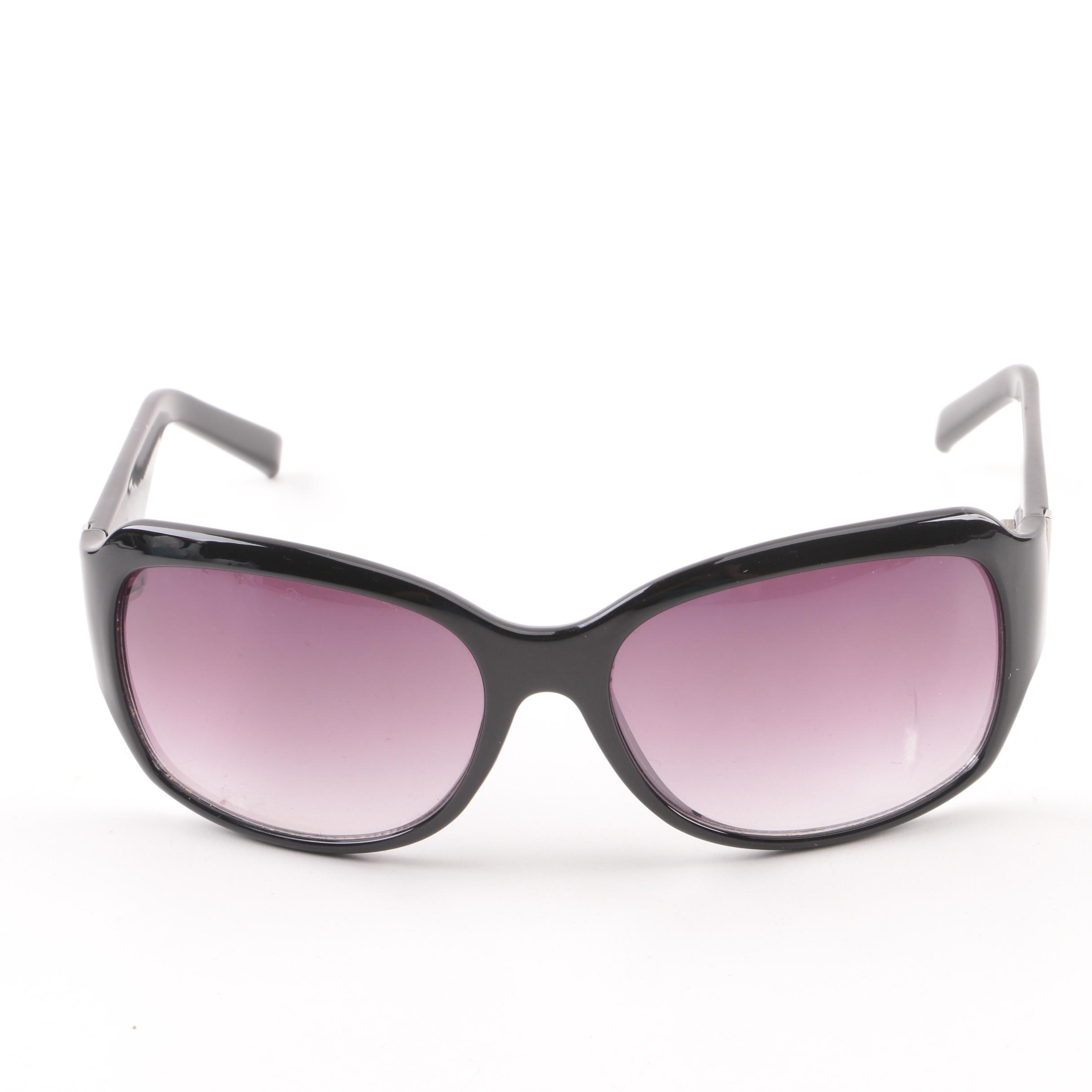 Ann Taylor Loft Black Wrap Style Sunglasses