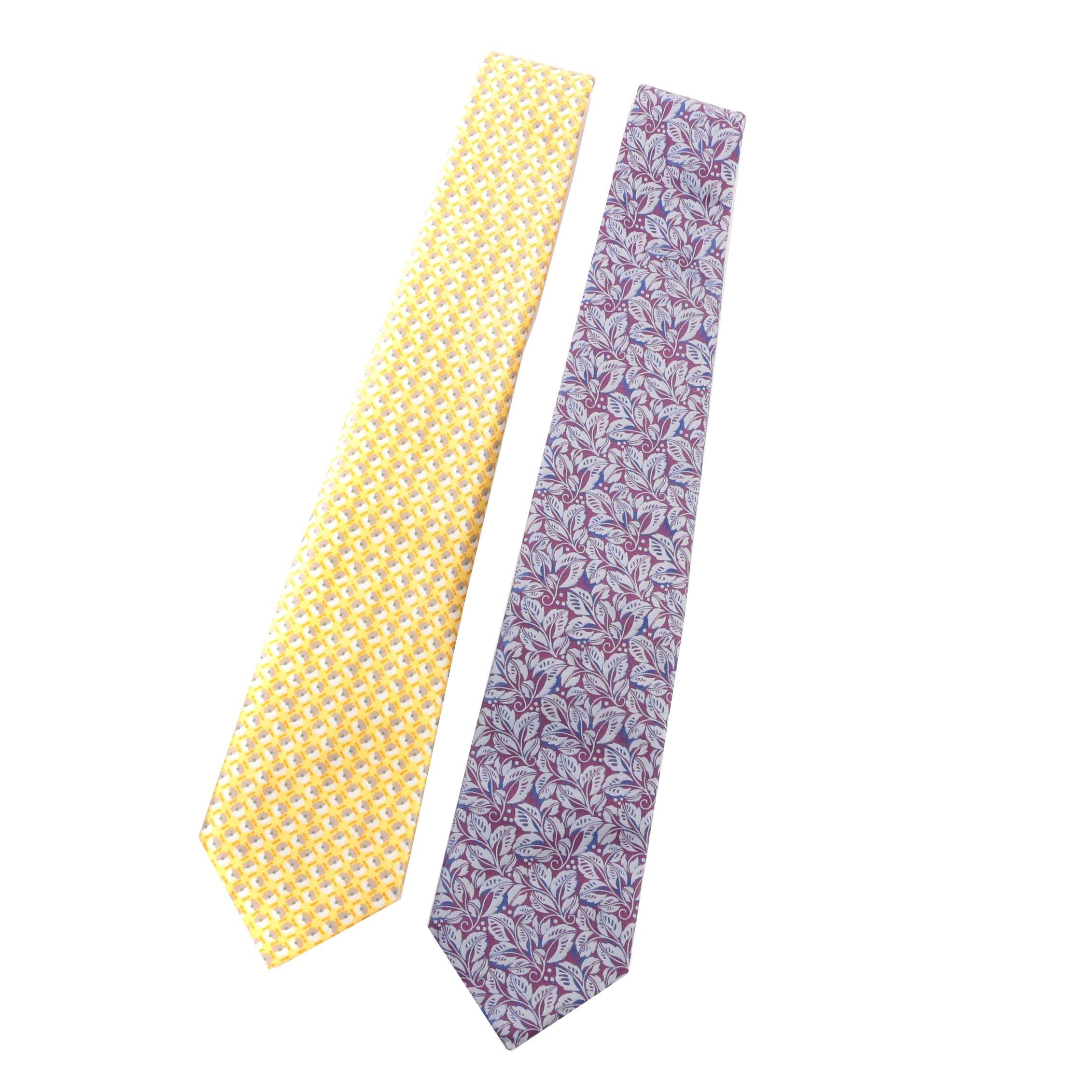 Men's Burberry London Floral Print Silk Neckties