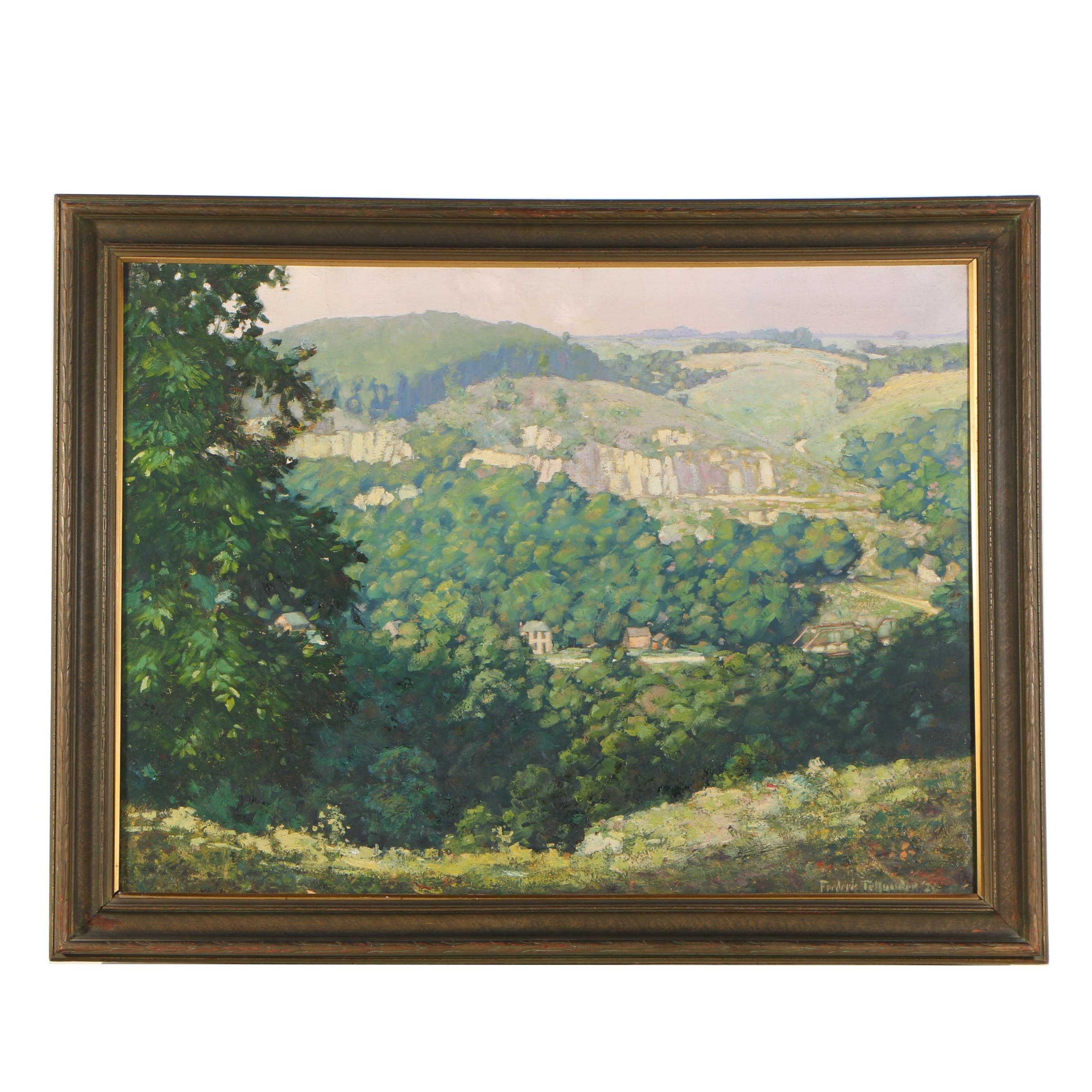 Frederic Tellander Landscape Oil Painting