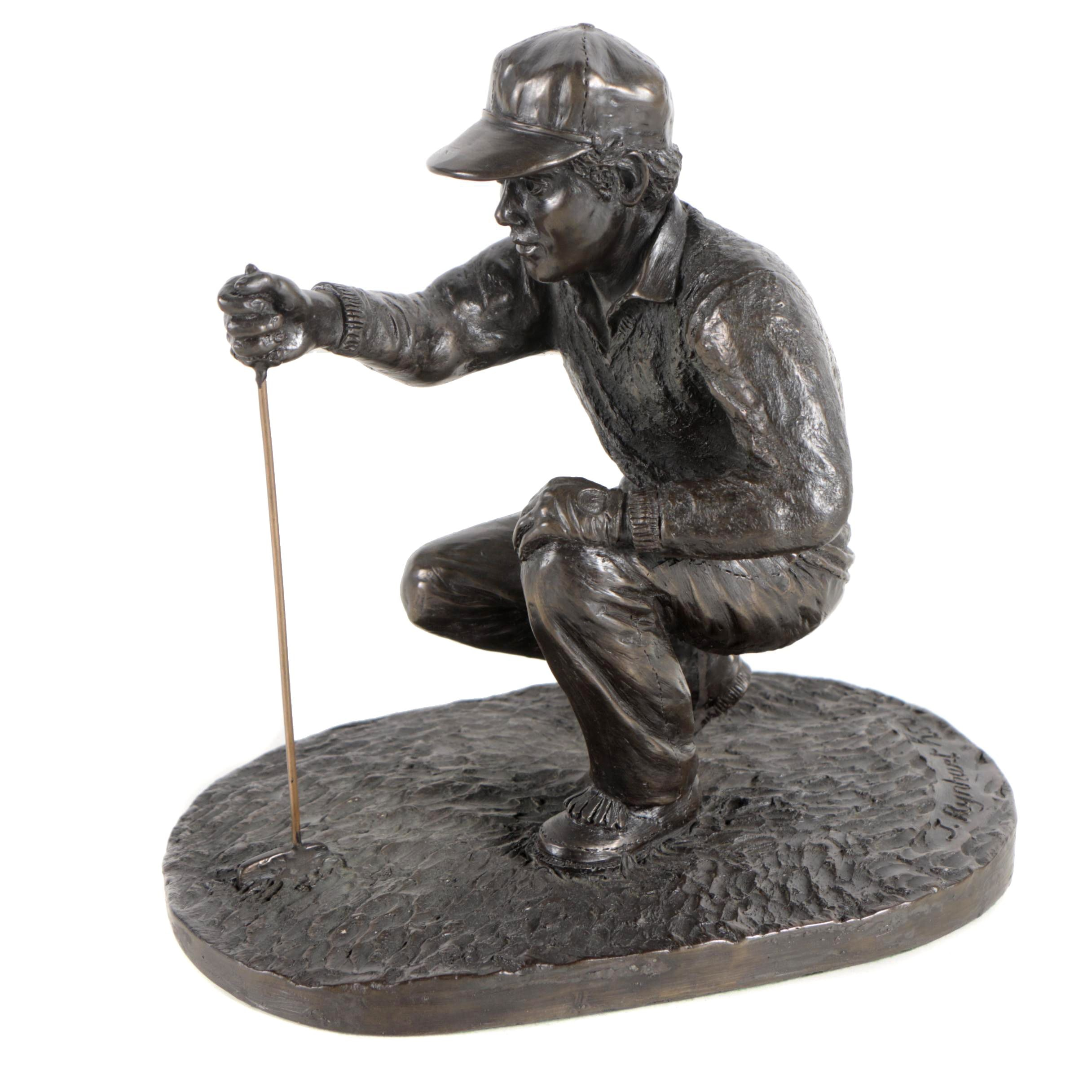 Jeanne Rynhart Limited Edition Cold Cast Bronze Sculpture of Golfer