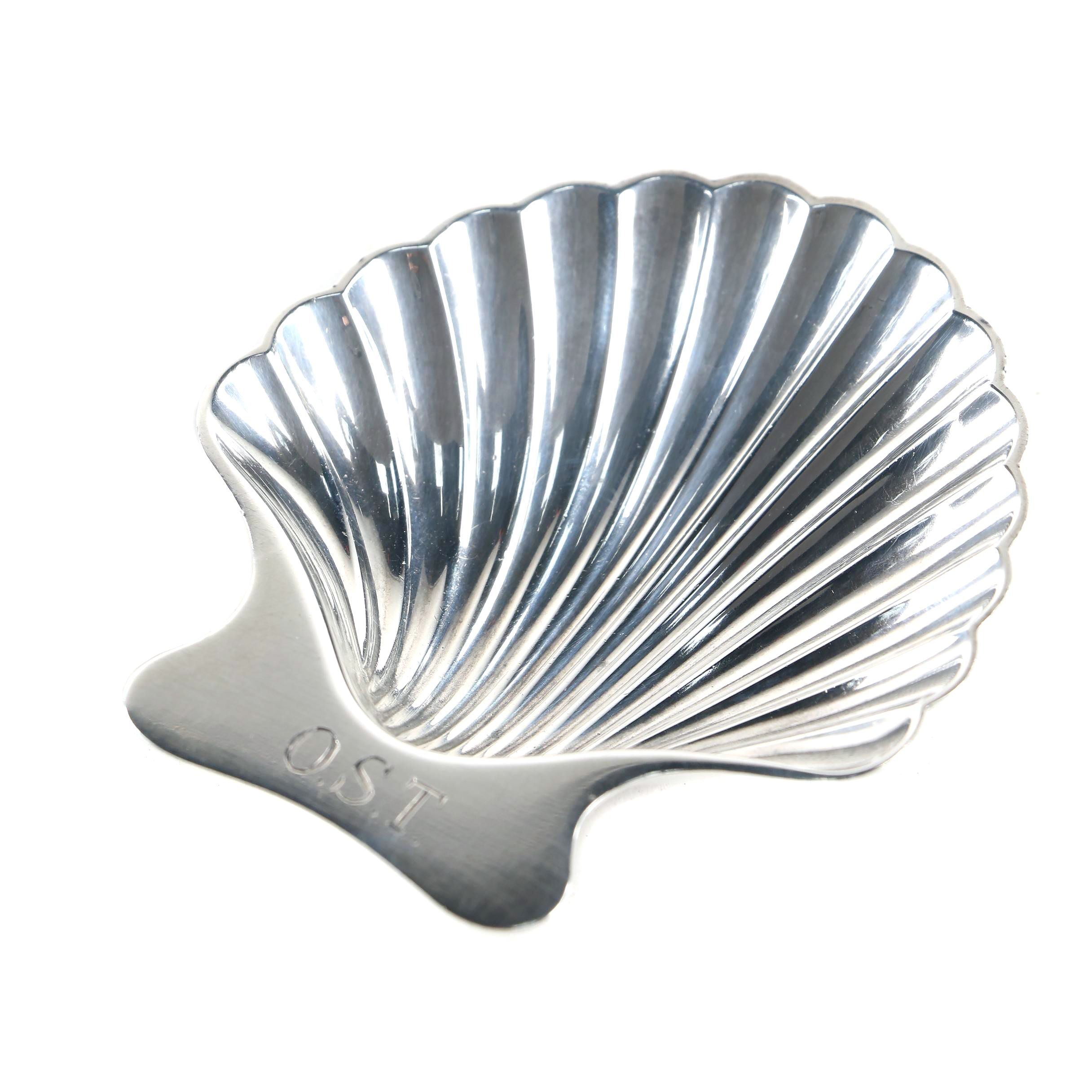 Tiffany & Co. Sterling Silver Scallop Shell Nut Dish