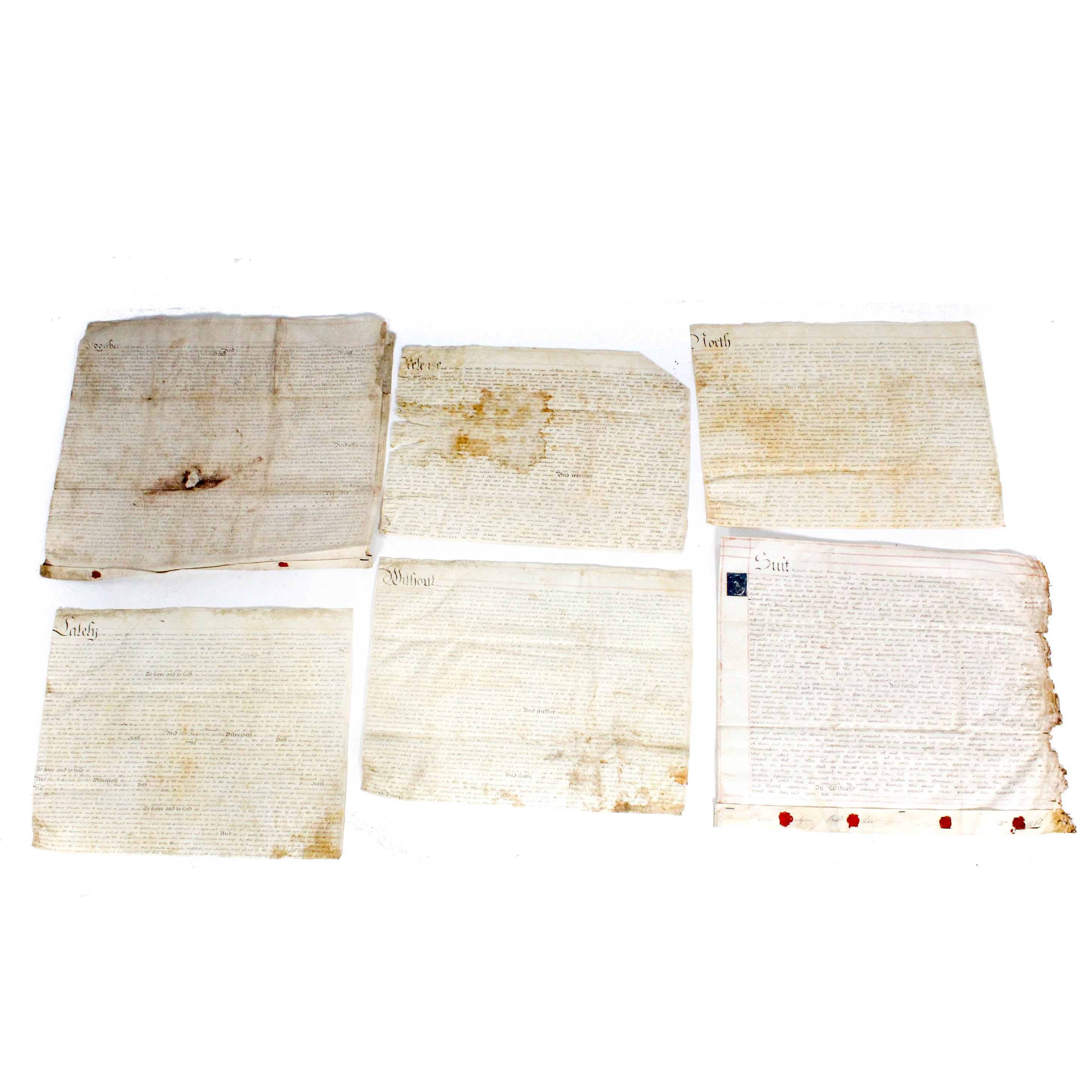1801 Contracts on Vellum