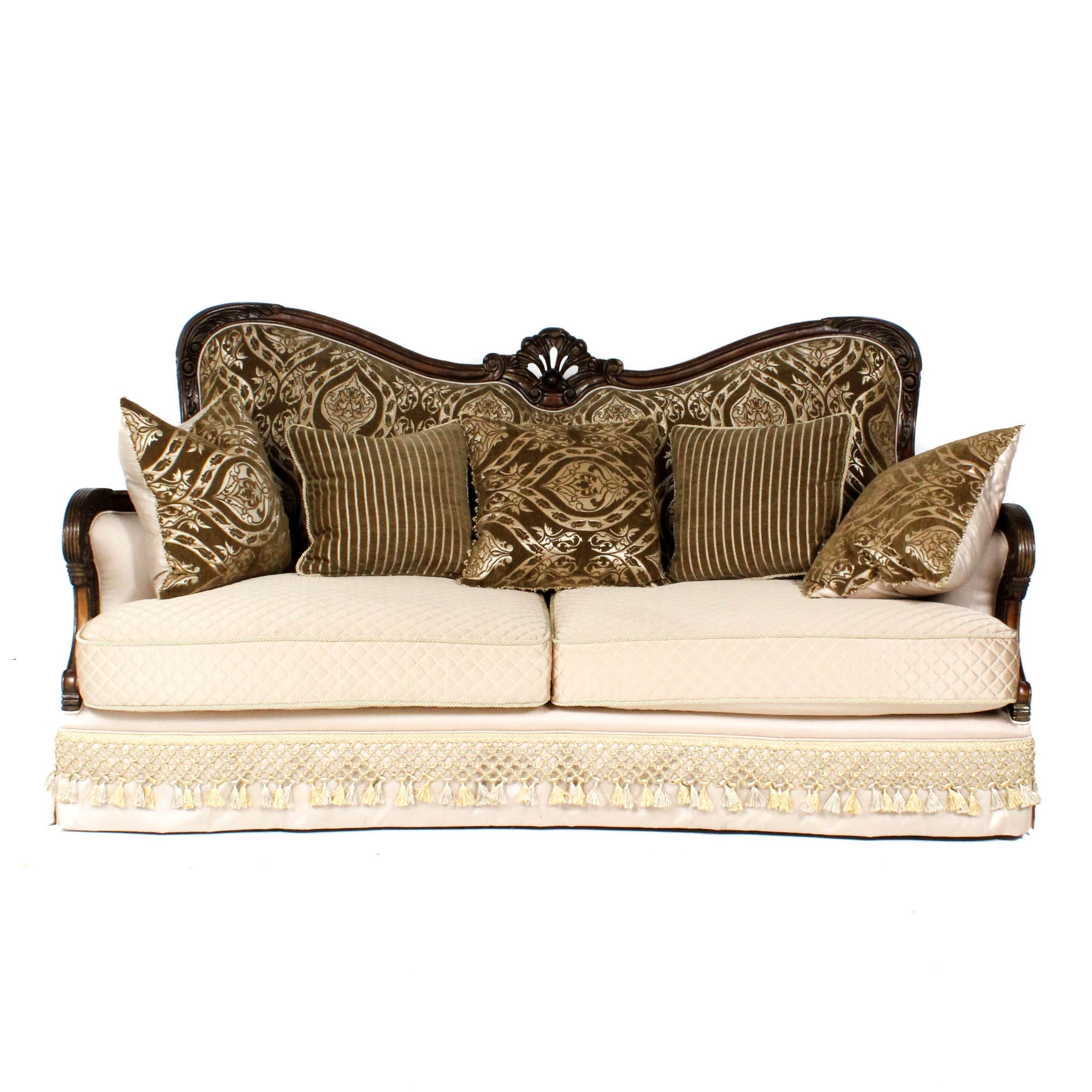 Michael Amini Quilted Sofa