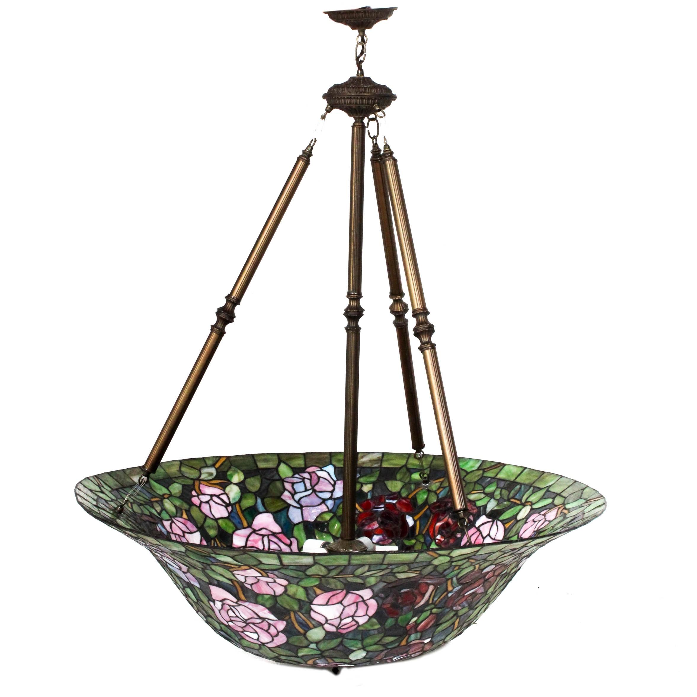 Loevsky & Loevsky WMC Slag Glass Pendant Lamp