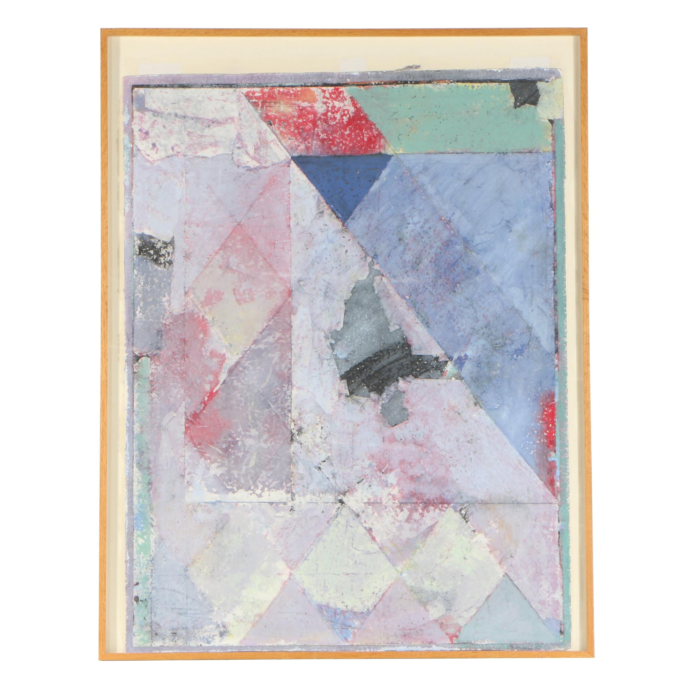 George Joji Miyasaki 1983 Acrylic and Mixed Media Painting