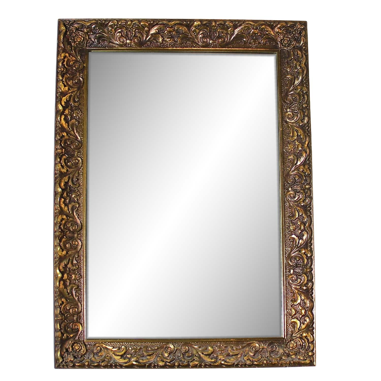 Floral Gold Painted Wall Mirror