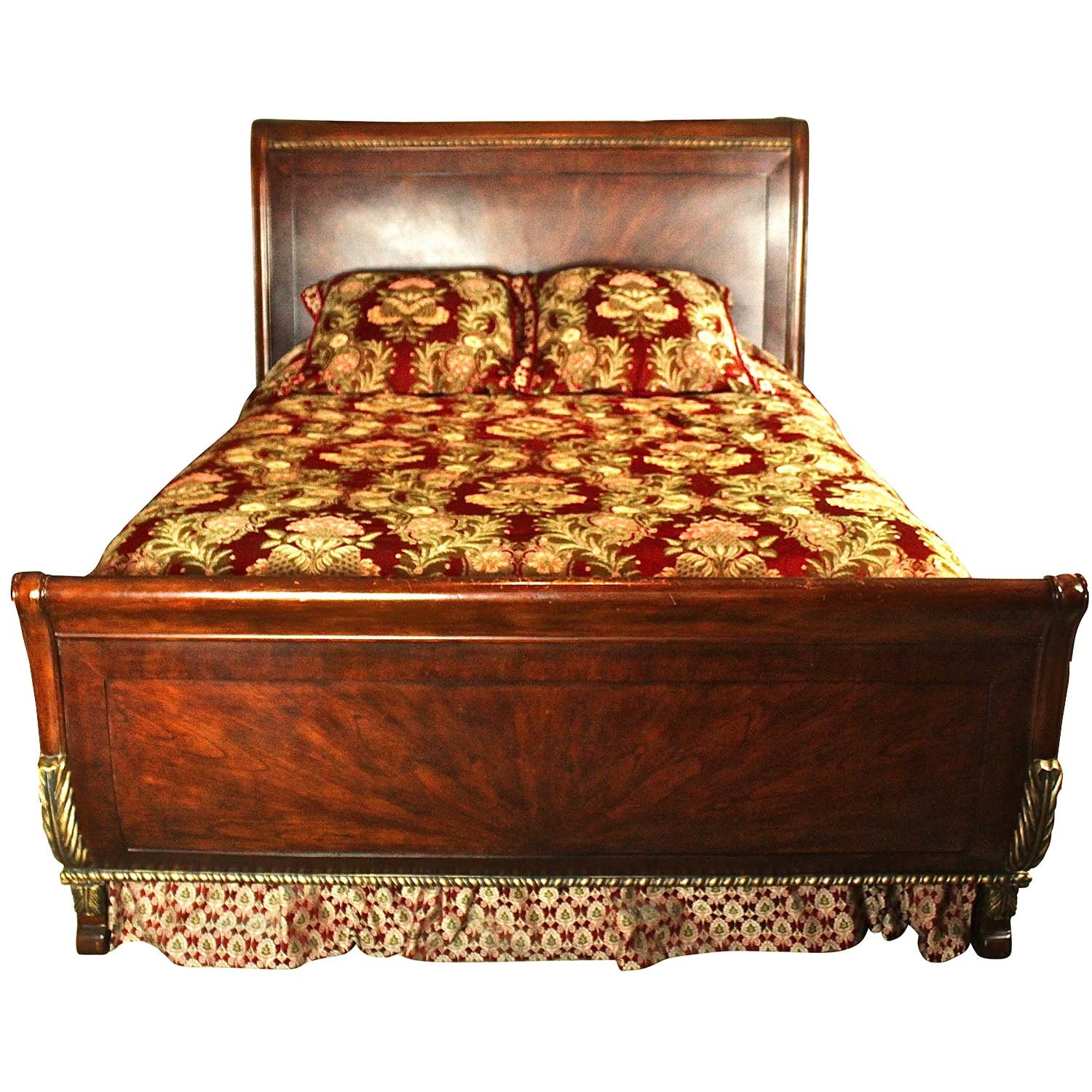 Riviera Hand Carved Queen Bed Frame