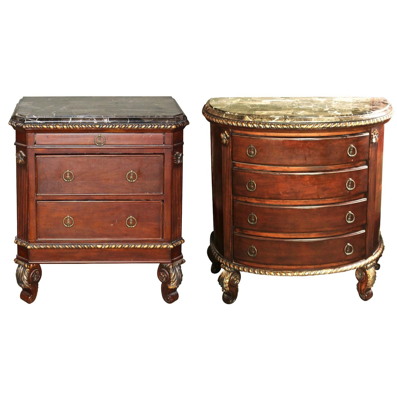 Riviera Hand Carved Mahogany End Tables
