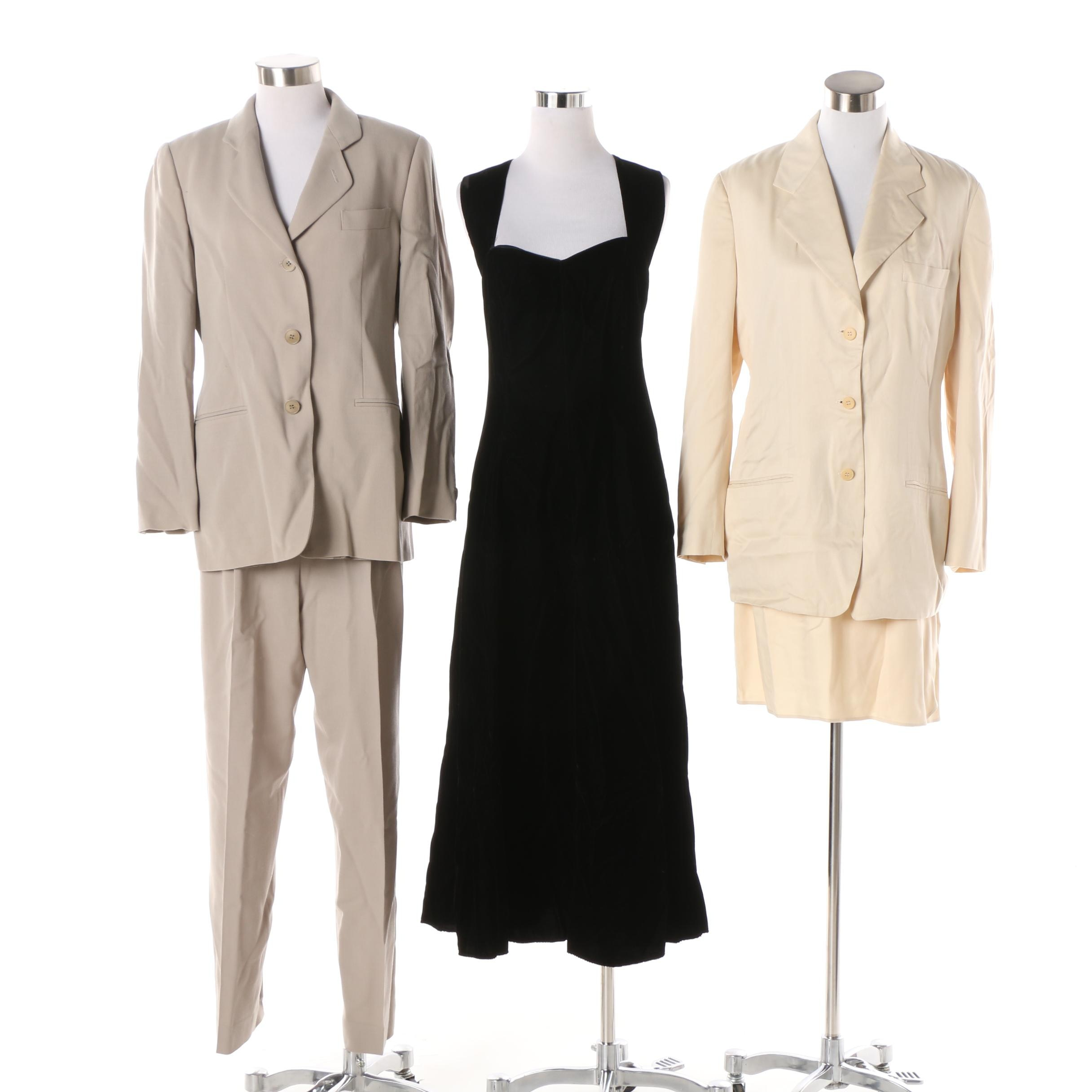 Women's Vintage Suits and Dress including Giorgio Armani and Calvin Klein