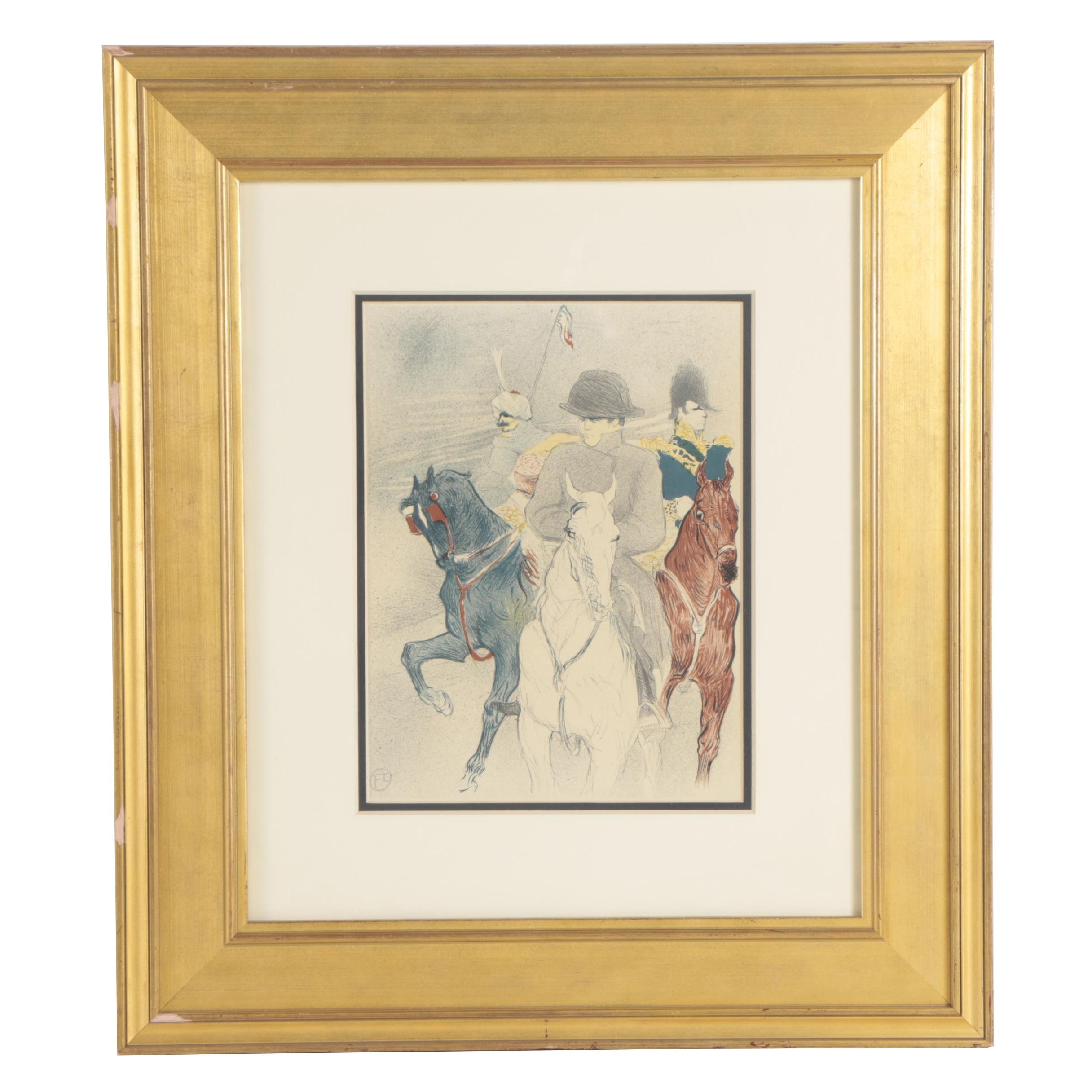 "Photolithograph after Henri de Toulouse-Lautrec ""Napoleon Bonaparte"""