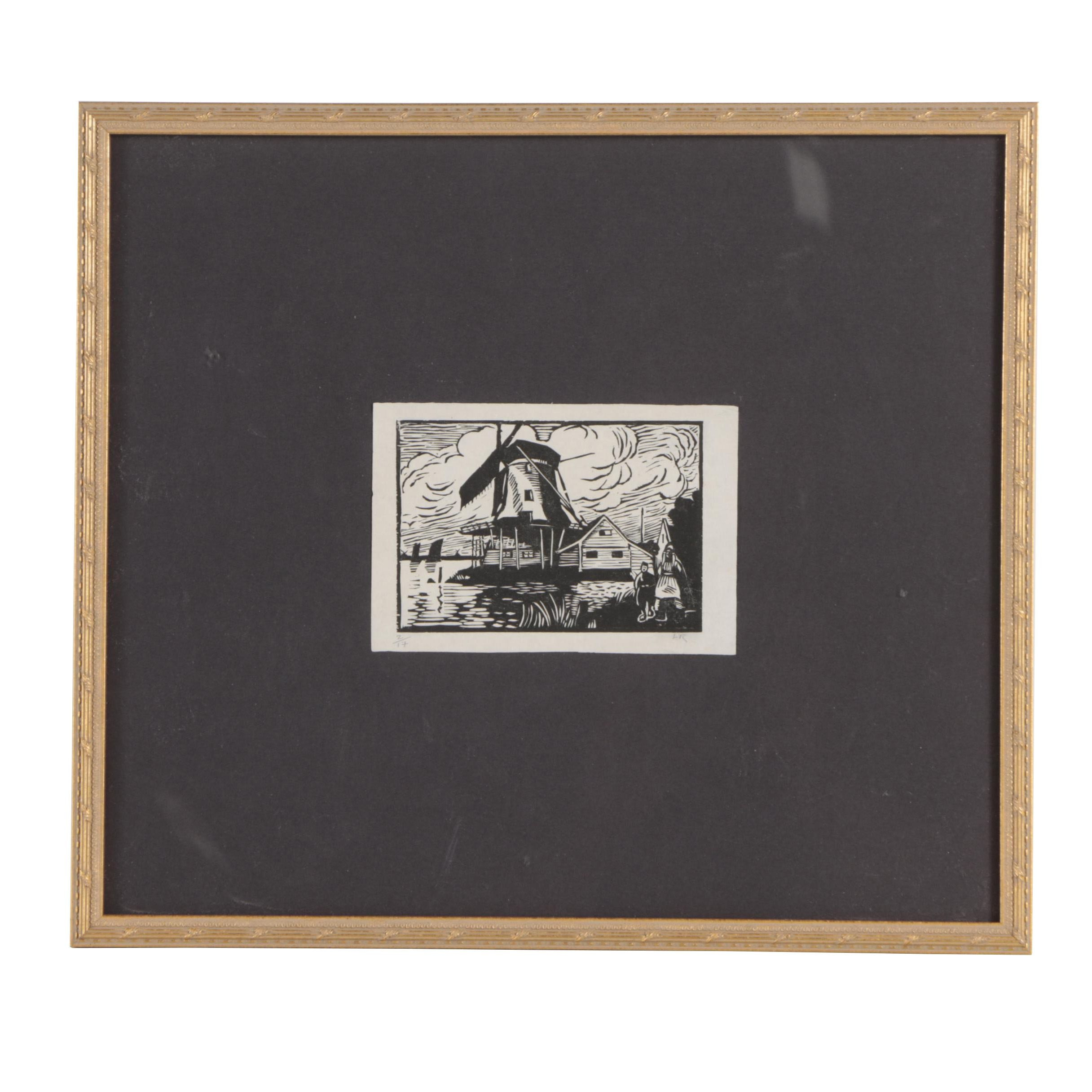 Ludovic-Rodo Pissarro Woodcut