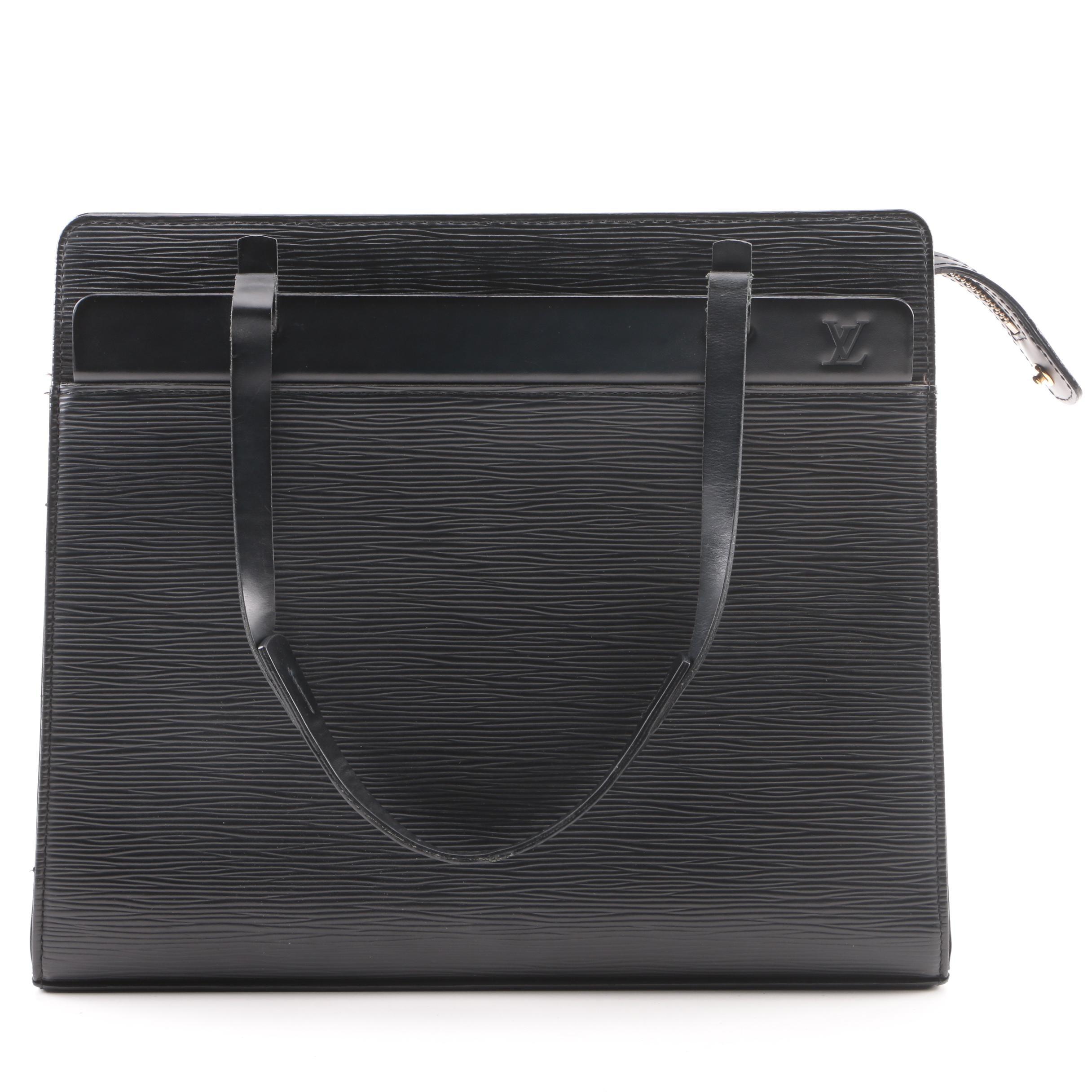 2004 Louis Vuitton Paris Black Epi Leather Croisette Handbag