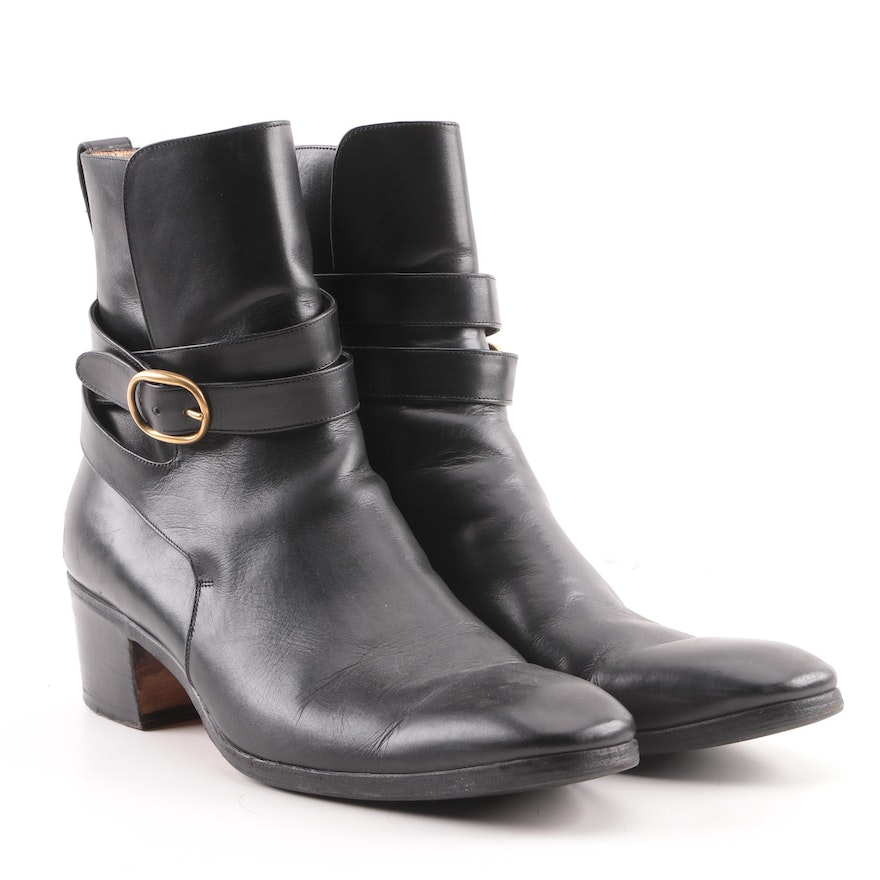 f293851b2ee Men's Yves Saint Laurent Black Leather Ankle Boots : EBTH