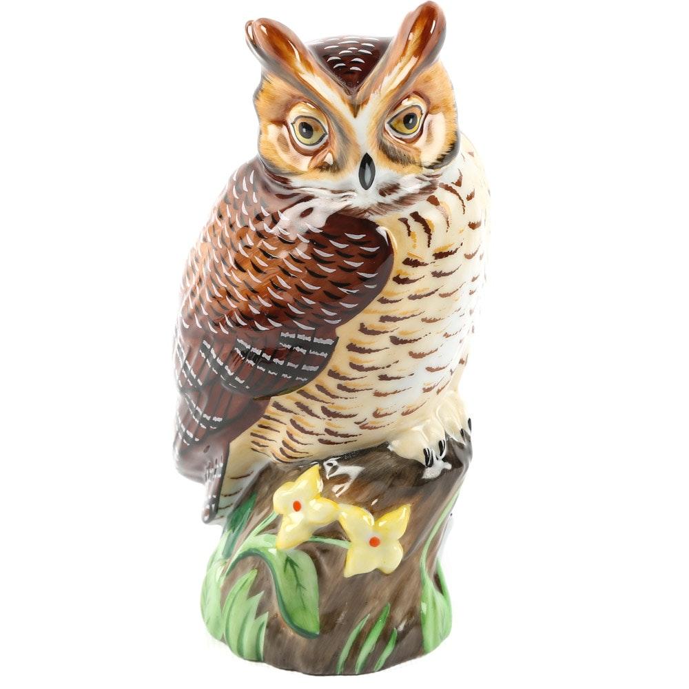 Hollóháza Hungary Porcelain Owl Figurine by Lynn Chase