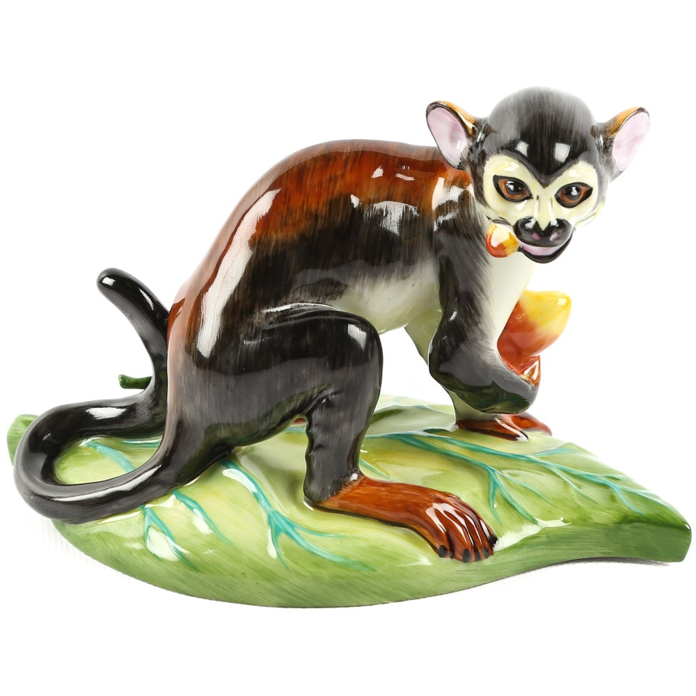 Lynn Chase for Hollóháza Hungary Porcelain Monkey Figurine