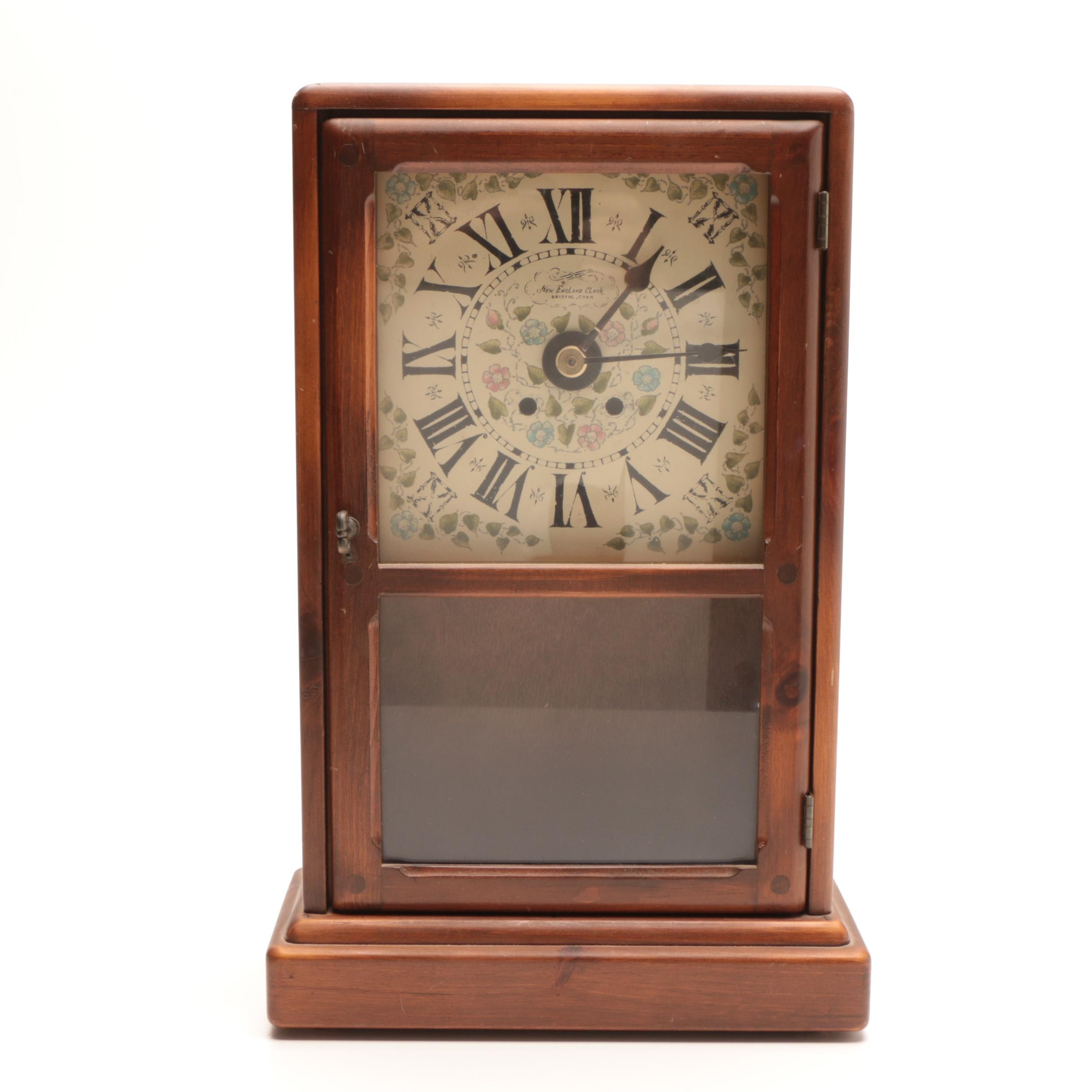 1960's Decorative Battery Operated Clock with Cabinet
