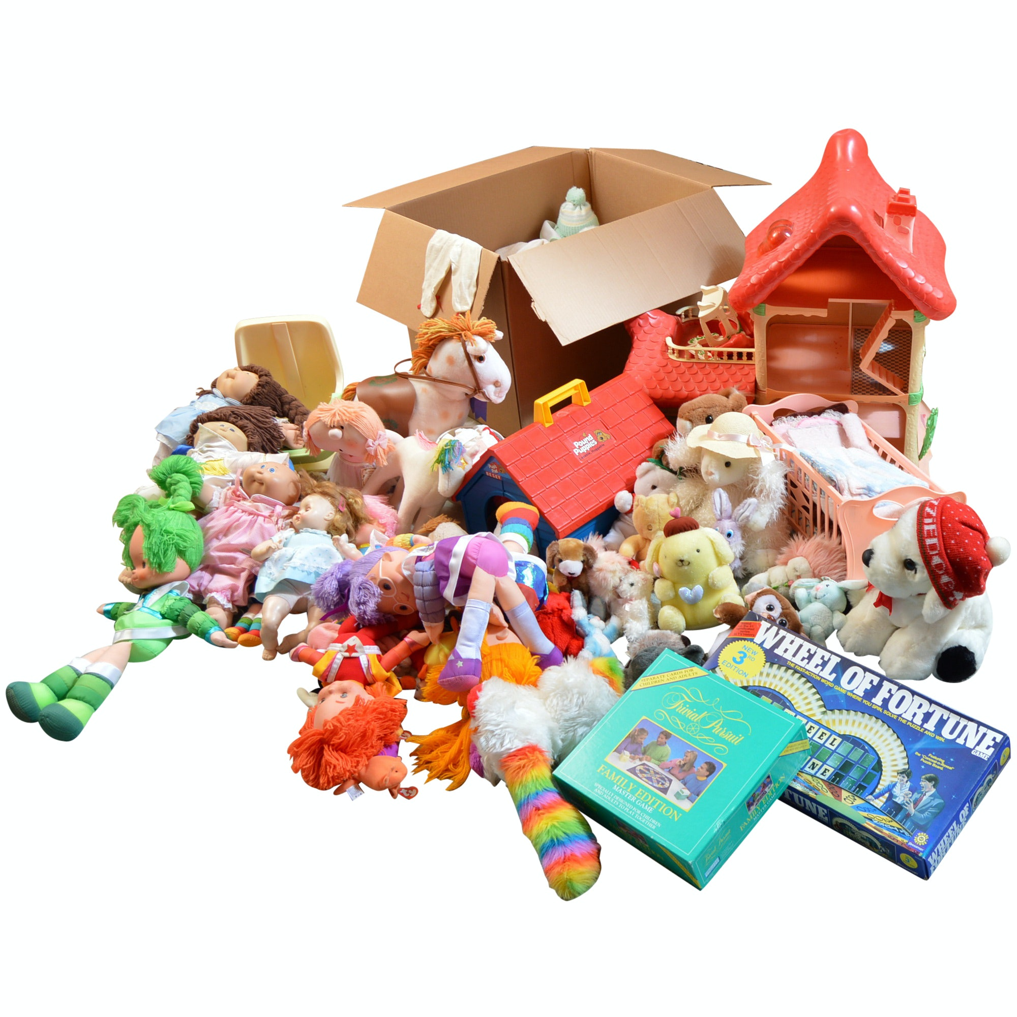 Children's Group with Dolls, Games and Toy Collection with Madame Alexander