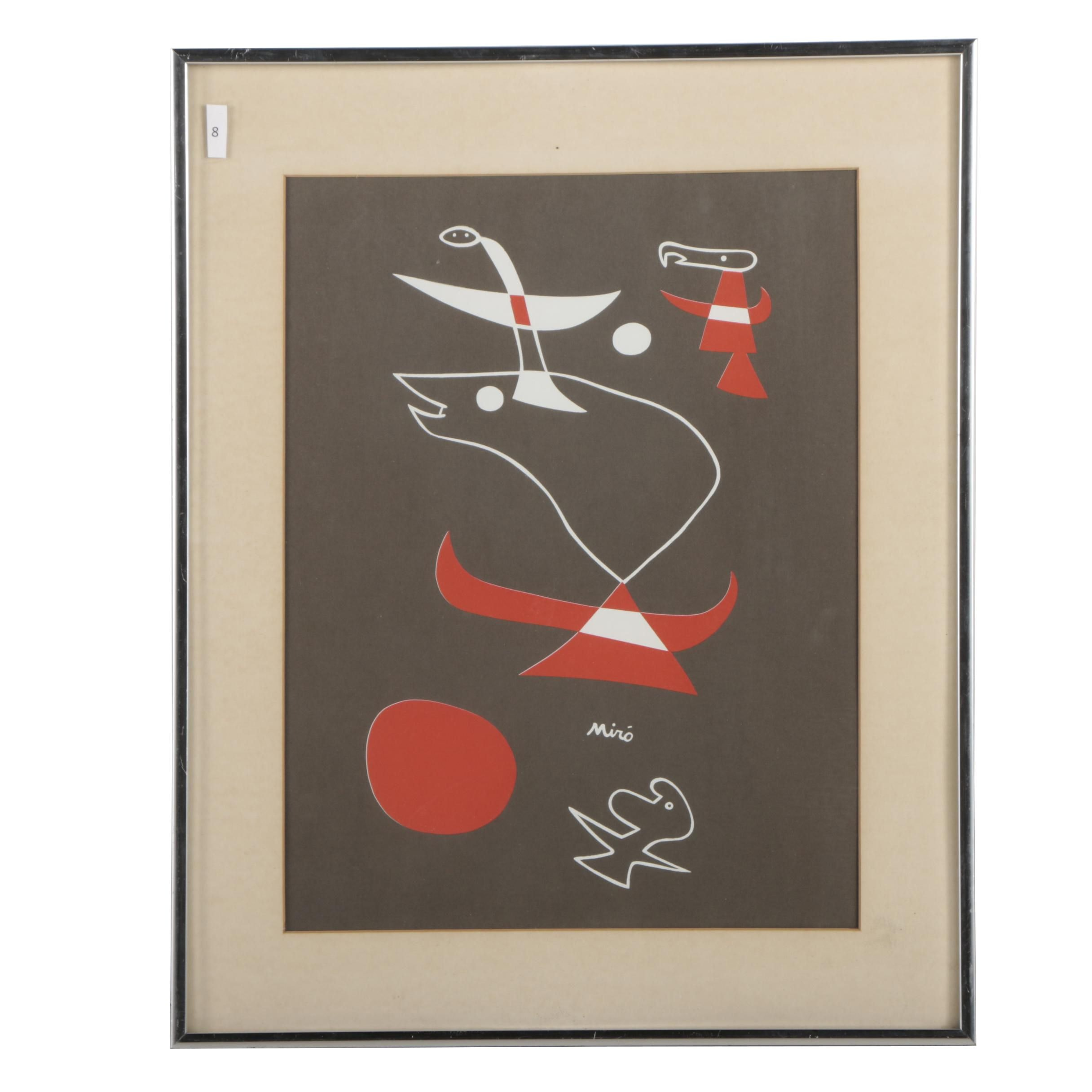 "Serigraph after Joan Miró ""Triptych"""