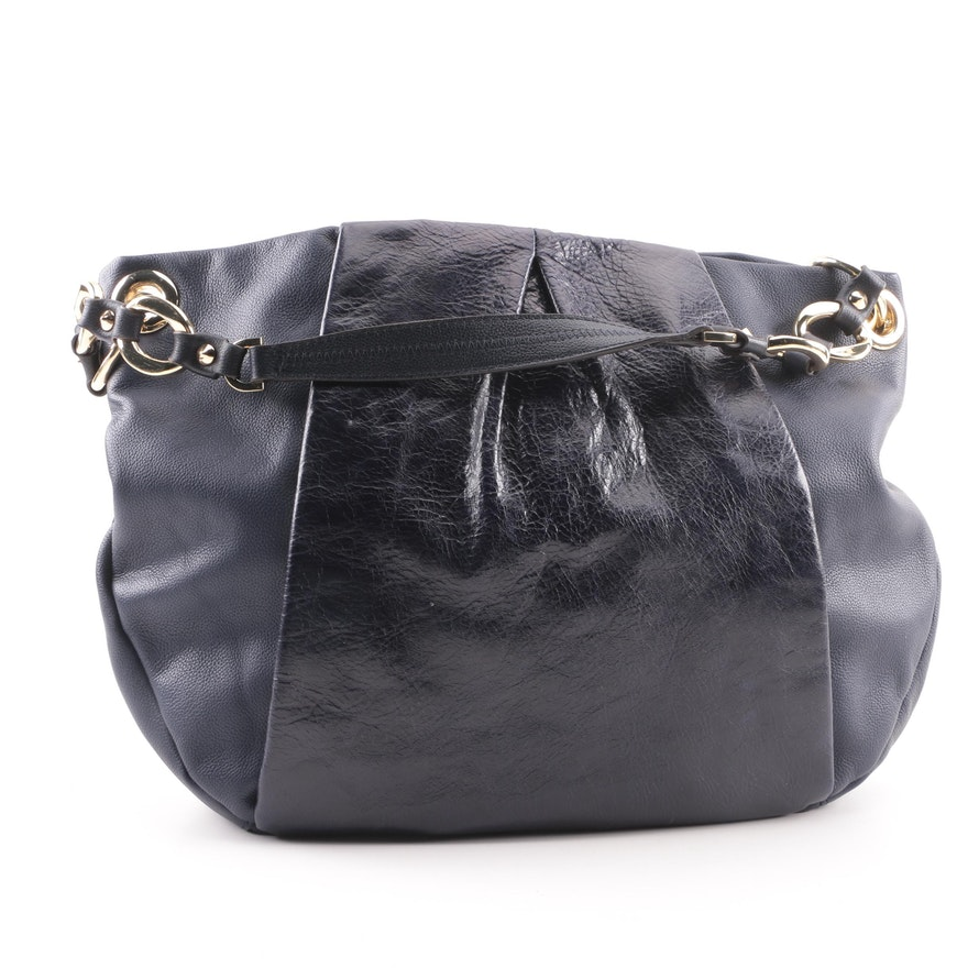 b9eb0fc112 Vince Camuto Navy Blue Leather Hobo Bag   EBTH
