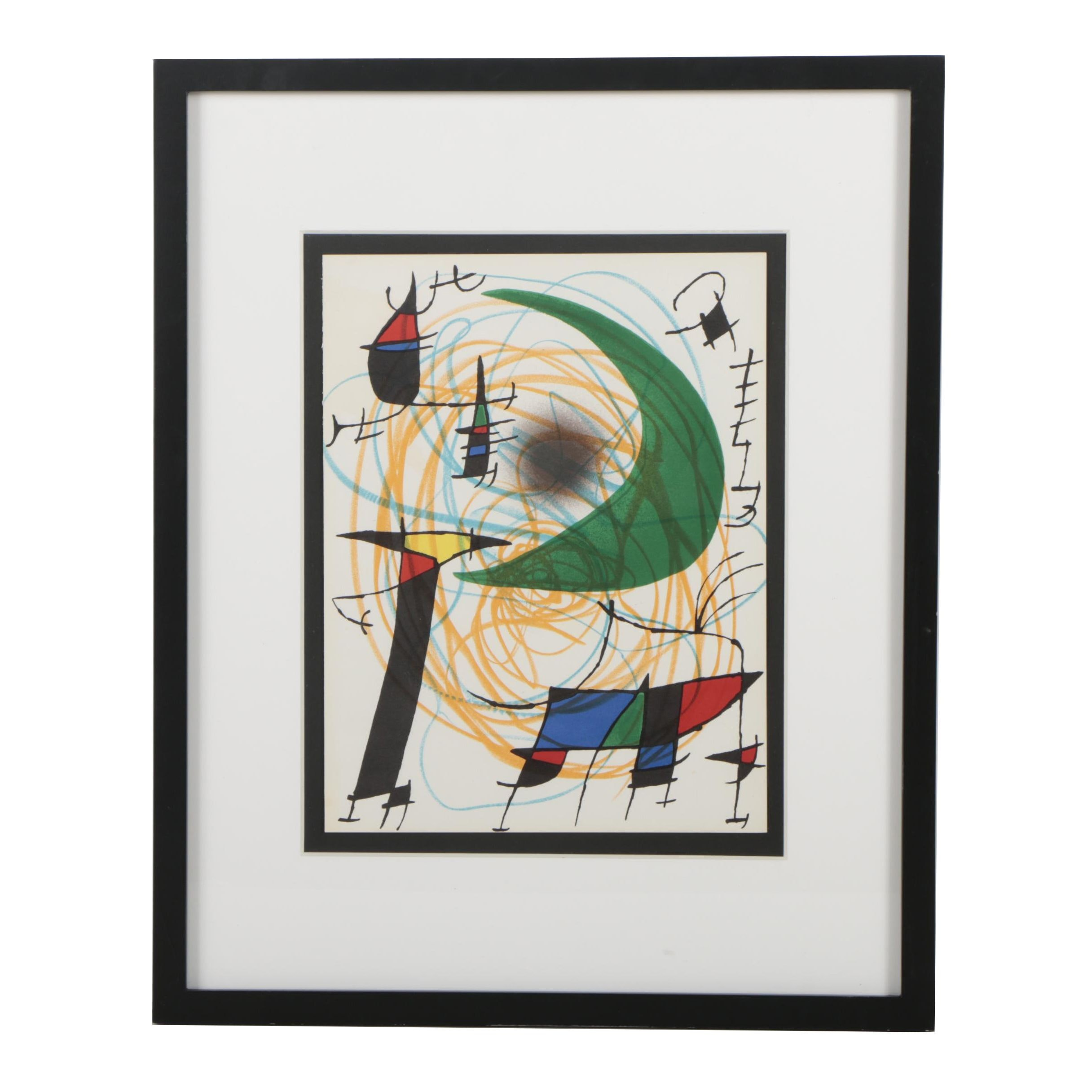 "Joan Miró Color Lithograph from ""Lithographs I"""