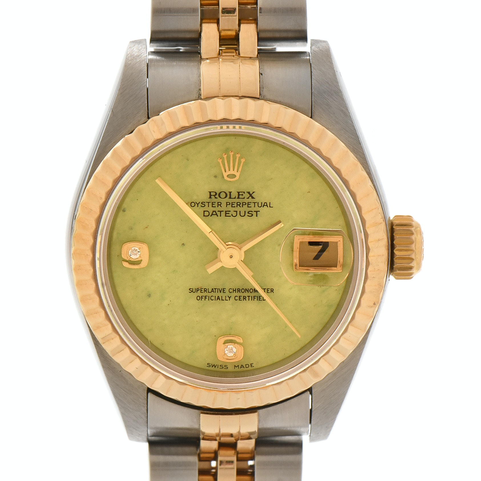 Rolex Datejust Aventurine Dial with Diamonds 18K Yellow Gold Steel Wristwatch