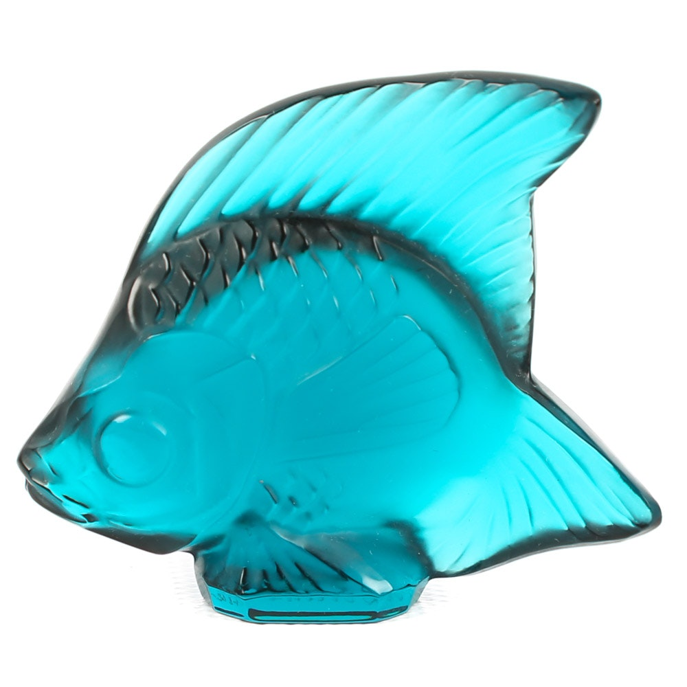 Lalique Crystal Fish Sculpture