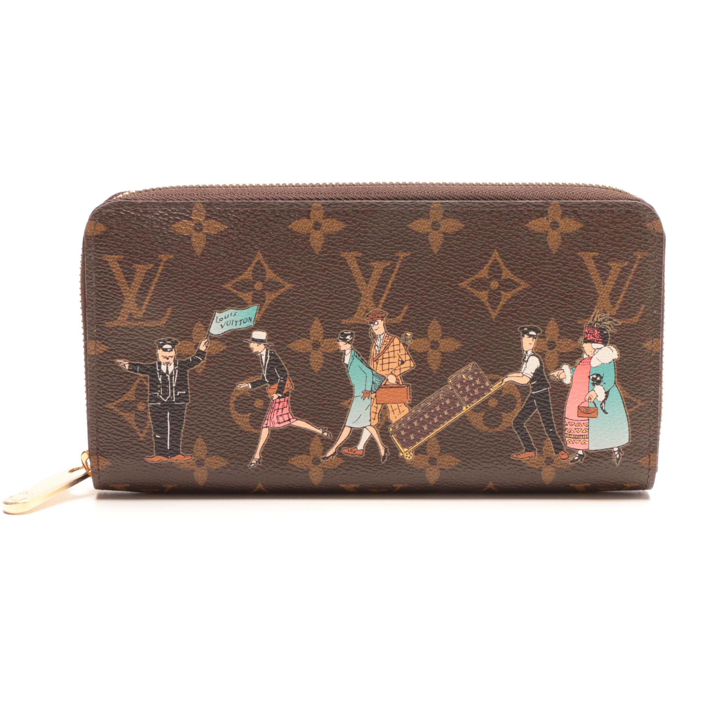 2011 Louis Vuitton Limited Edition Monogram Canvas Illustre Zippy Wallet