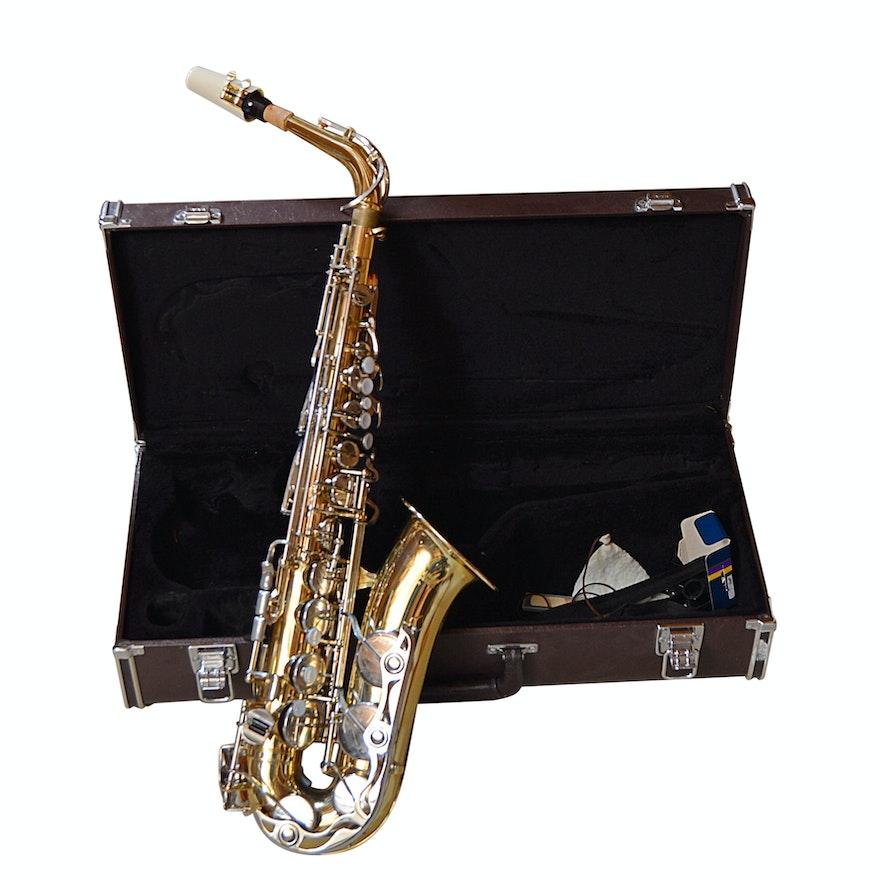 be5909fbd1 Yamaha YAS-23 Alto Saxophone with Case   EBTH