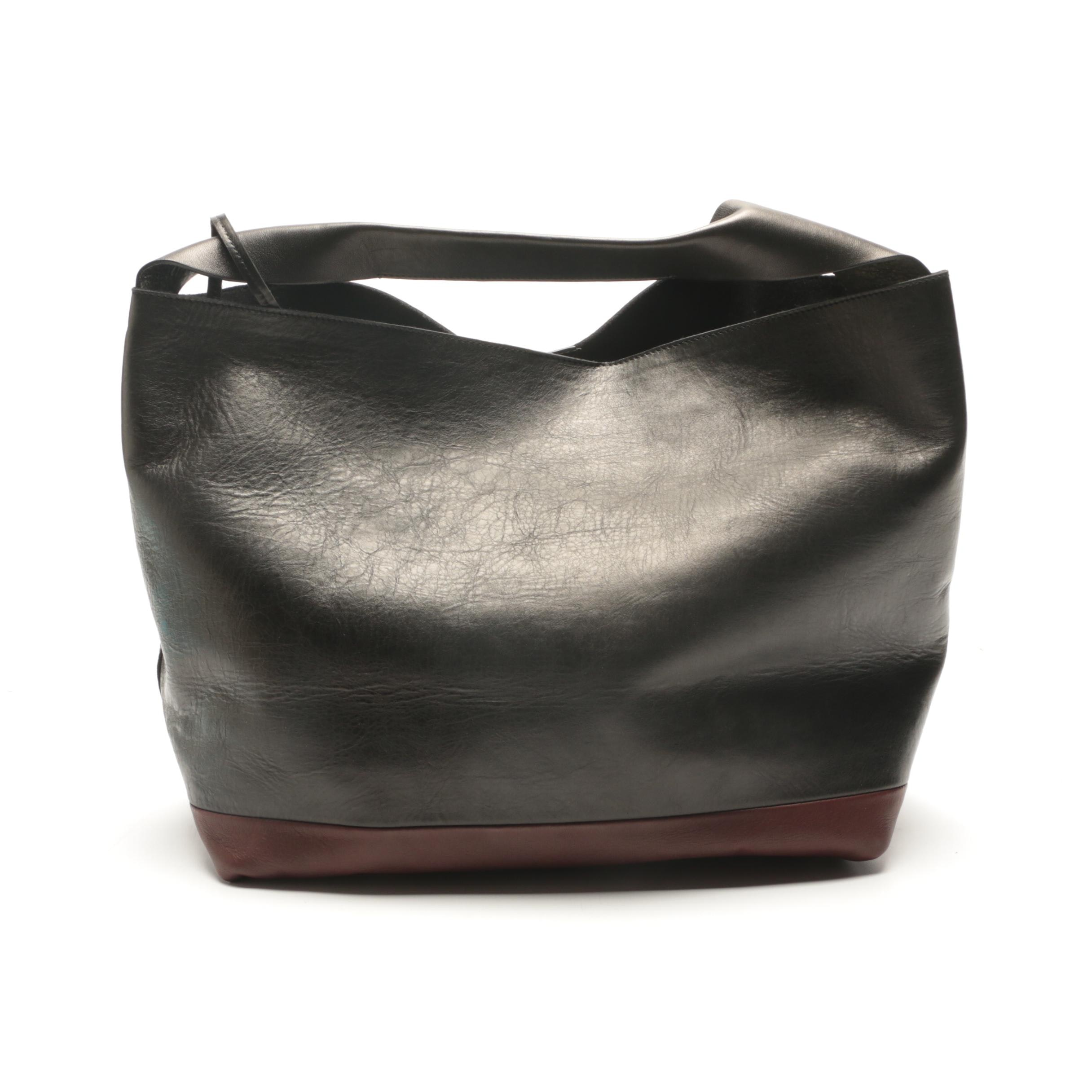 Marni Borsa Sacca Leather Shoulder Bag