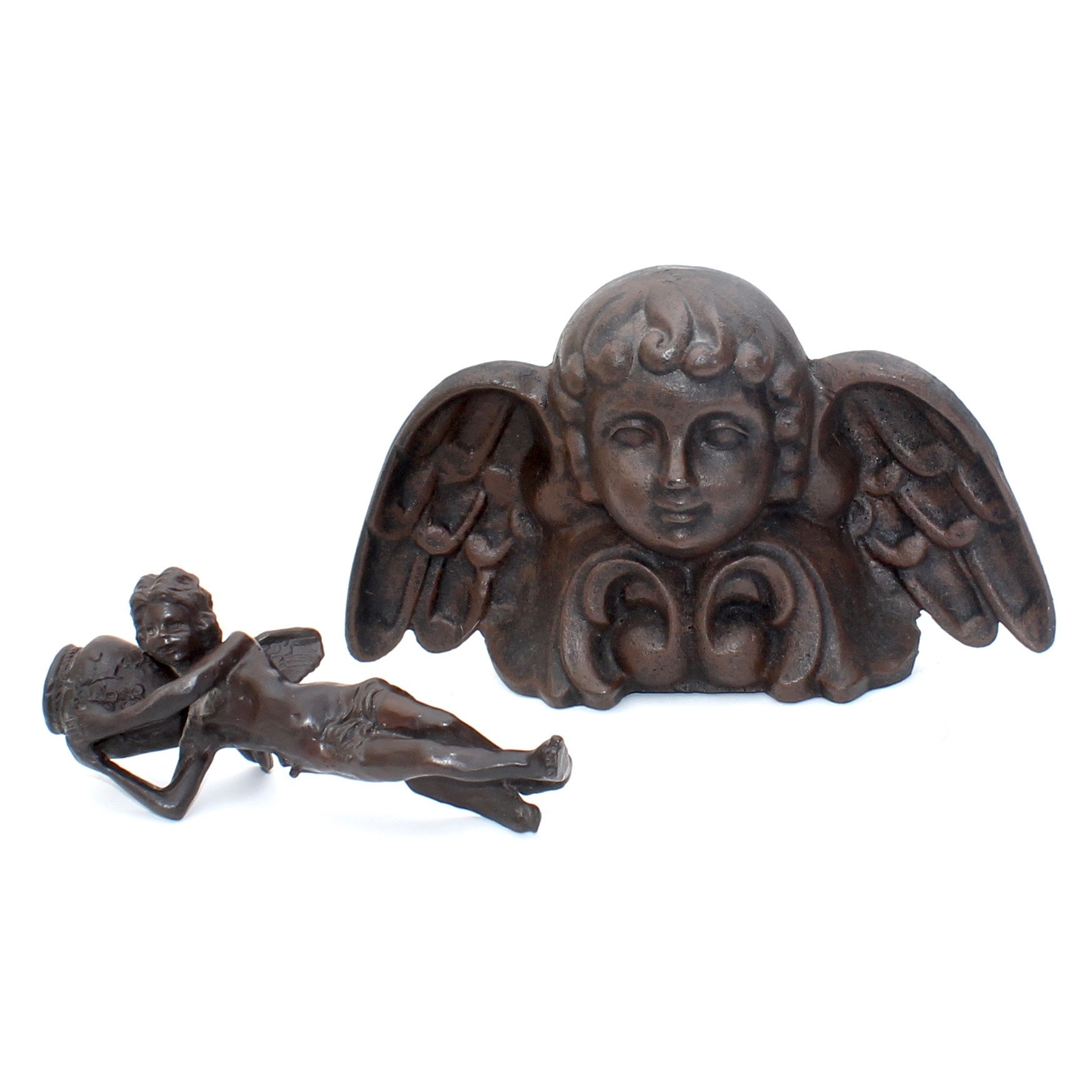 Angel Sculptures in Cast Iron and Bronze