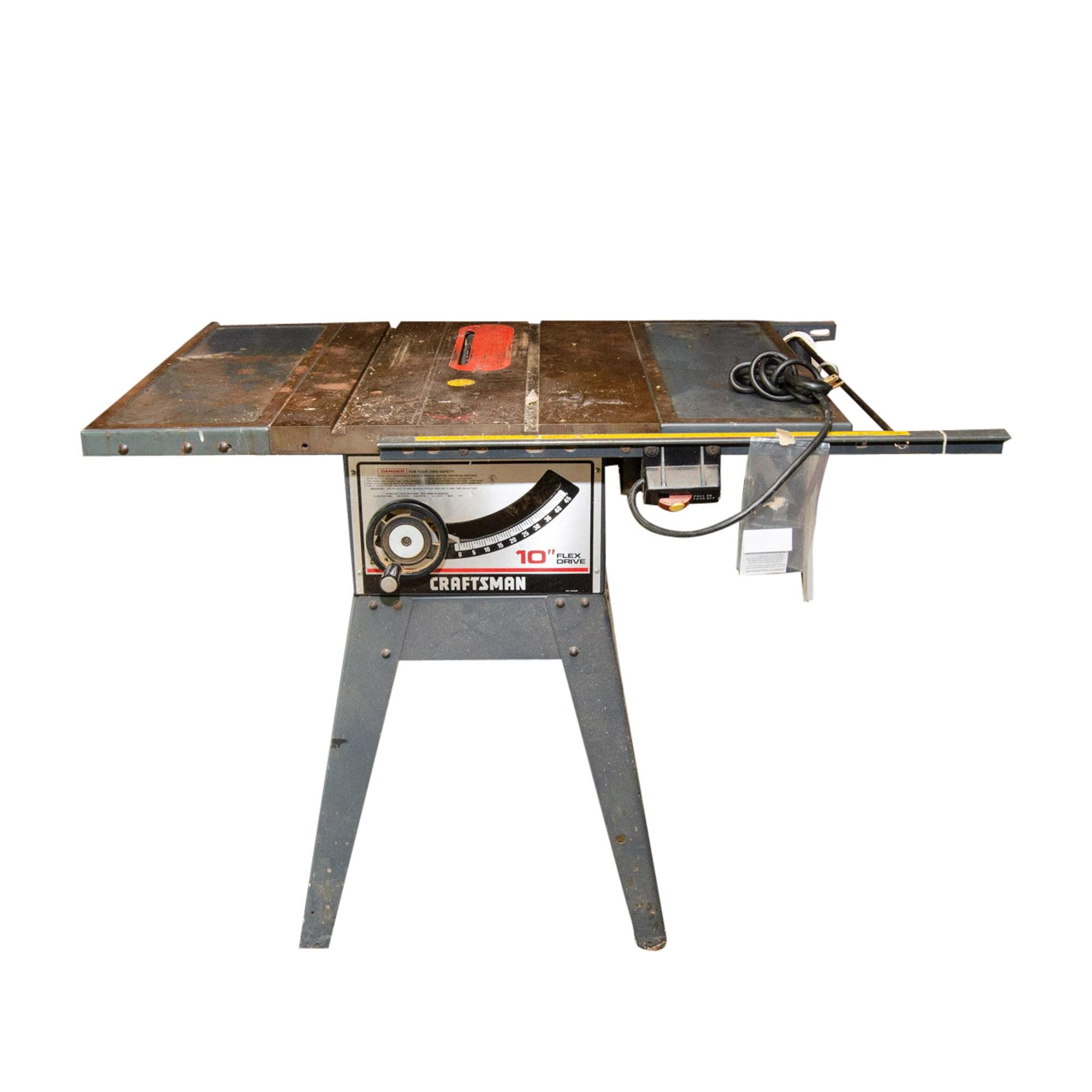 "Craftsman 10"" Flex Drive Table Saw"