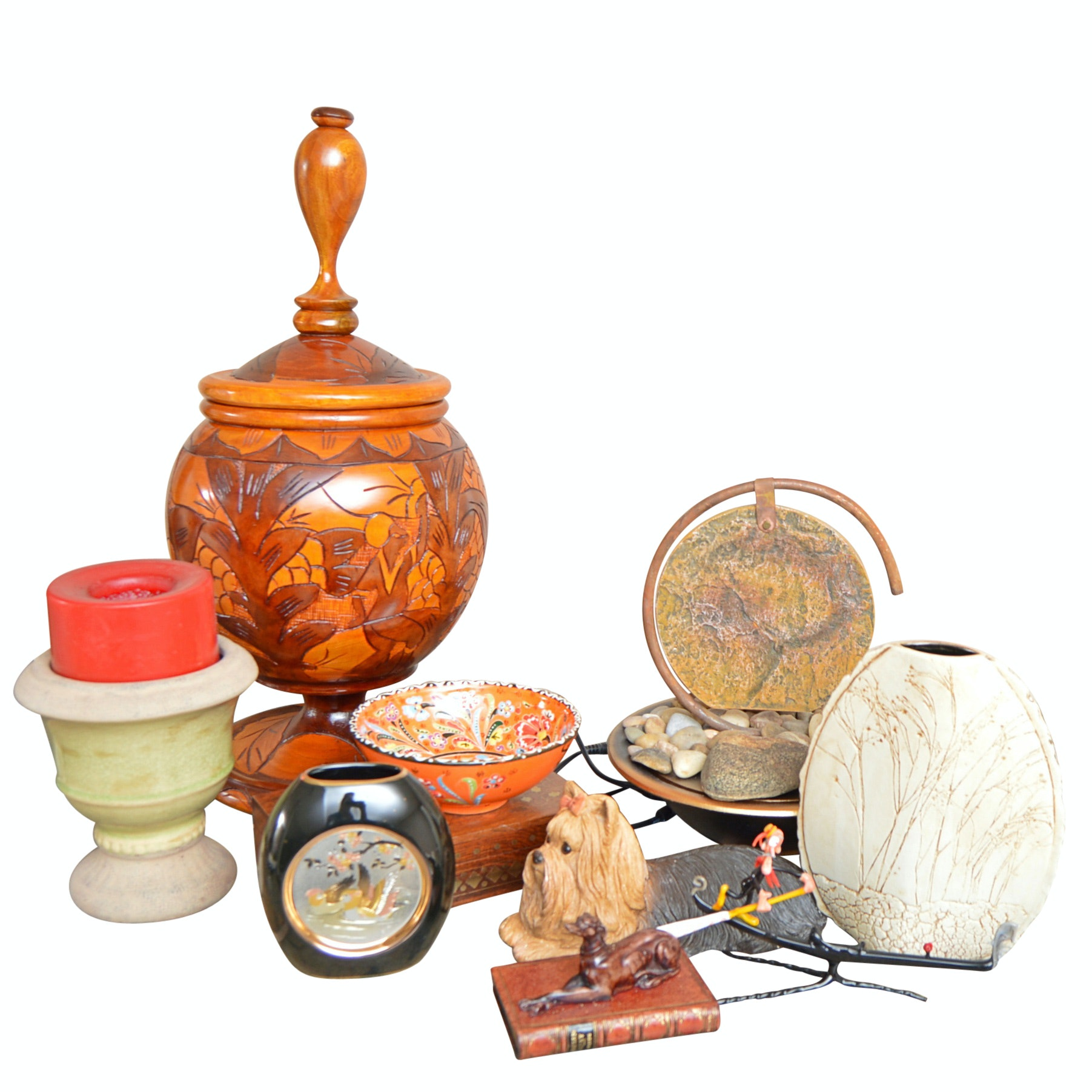 Pottery and Decor with Electric Bowl Fountain