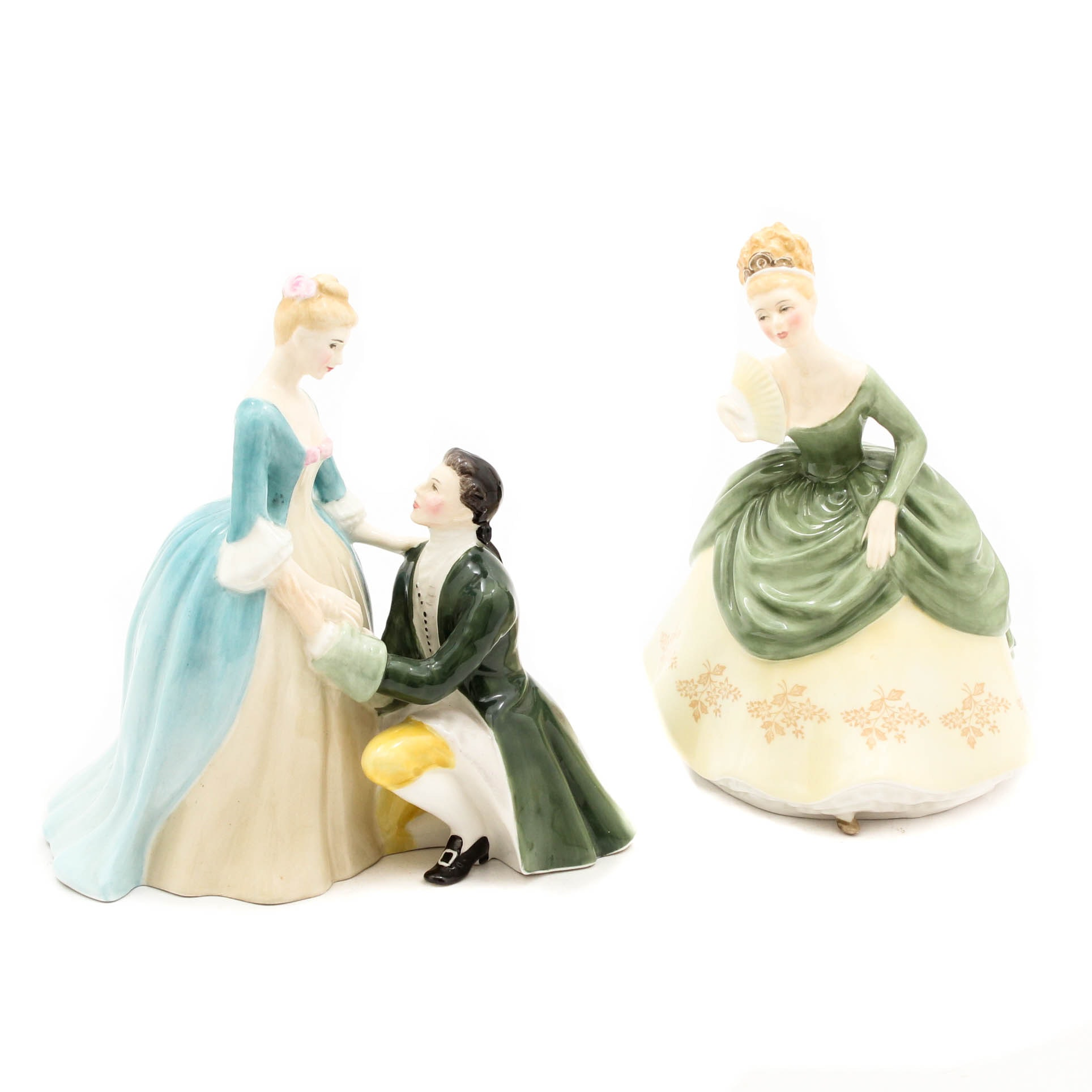 "Royal Doulton ""The Suitor"" and ""Soiree"" Figurines"
