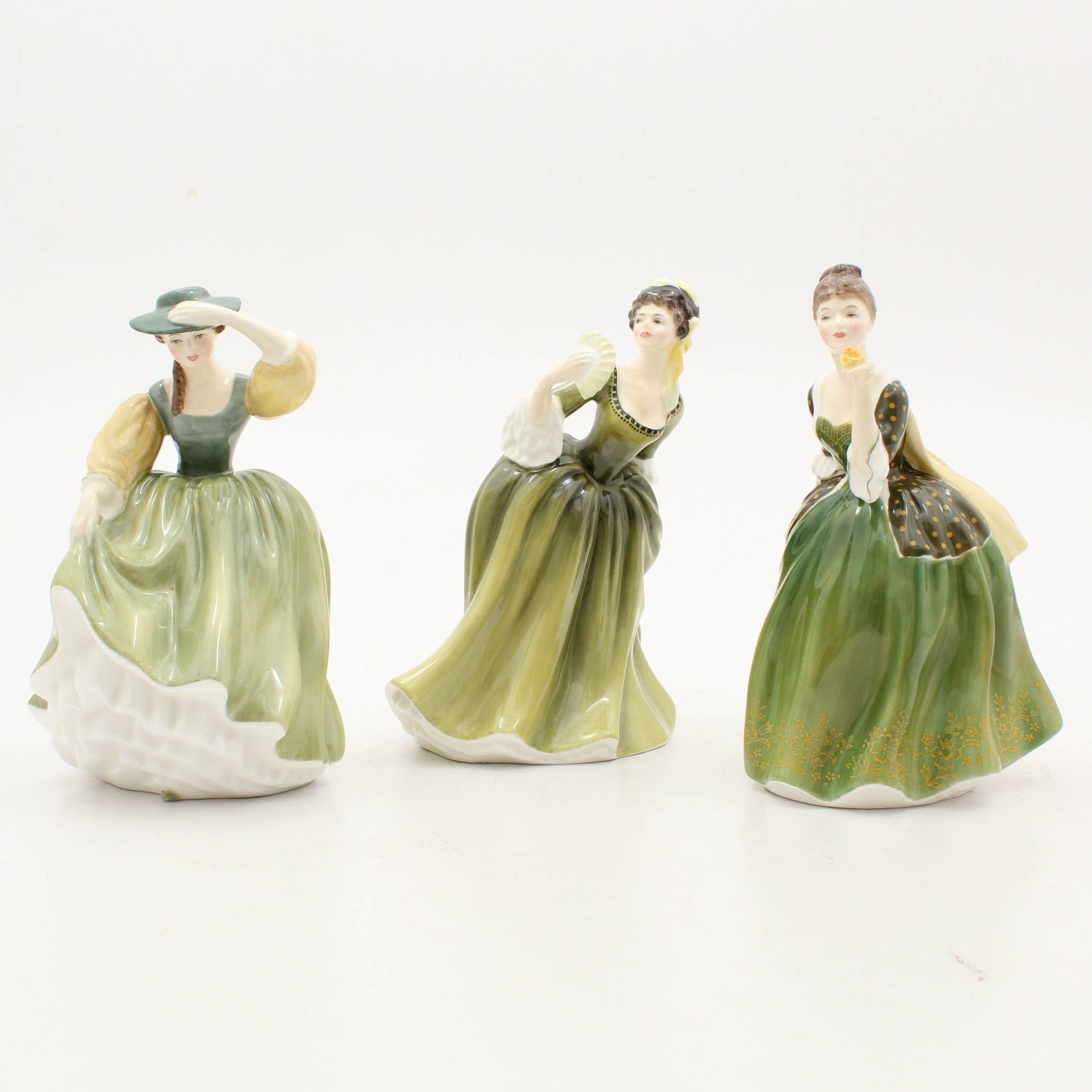 "Royal Doulton ""Buttercup"" ""Fleur"" and ""Simone"" Figurines"
