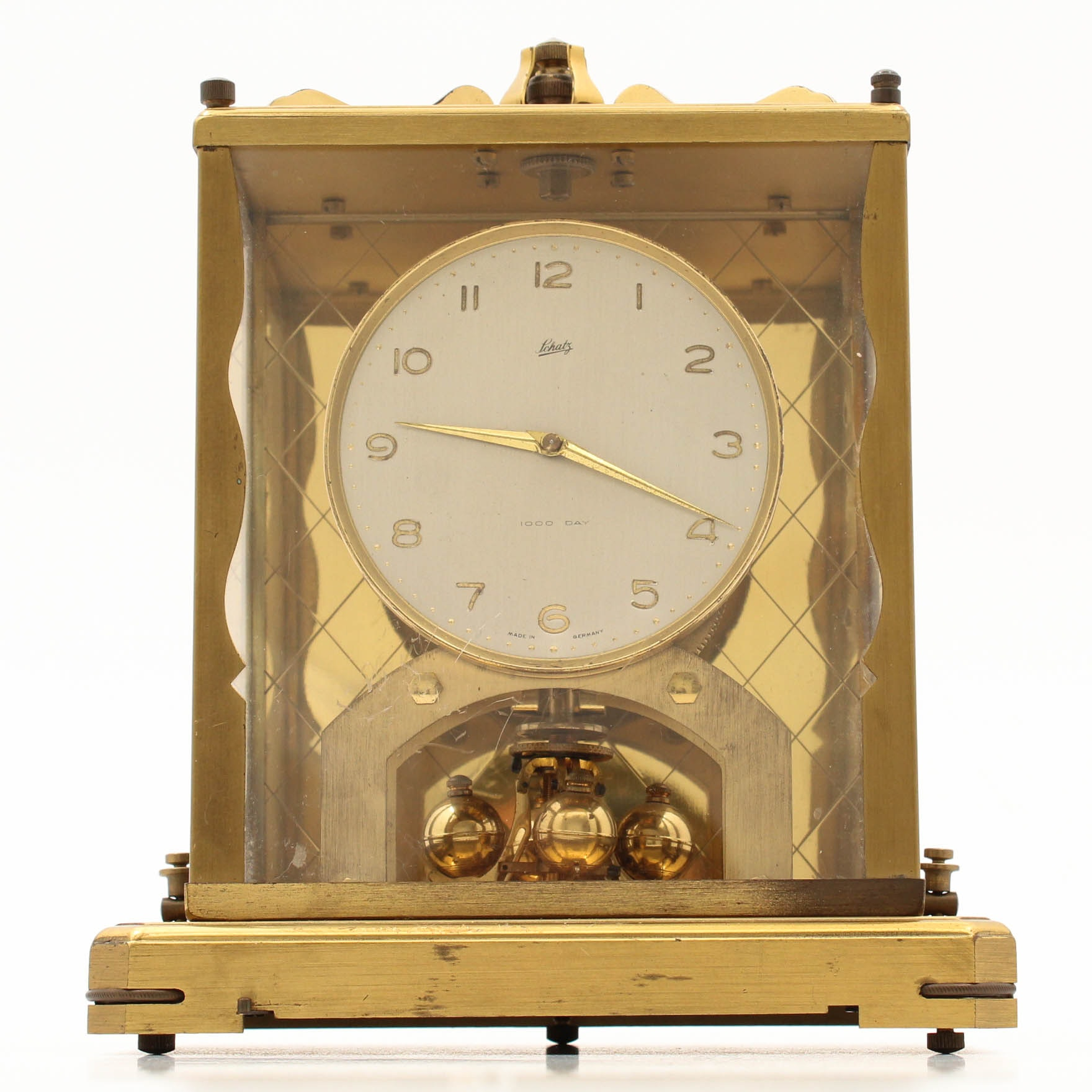 Schatz 1000 Day Brass Mantel Clock