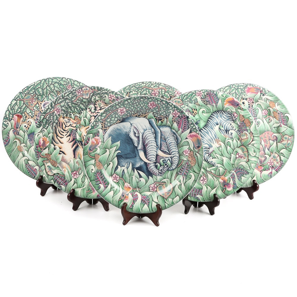 "Gien ""La Jungle"" Dinner Plates"