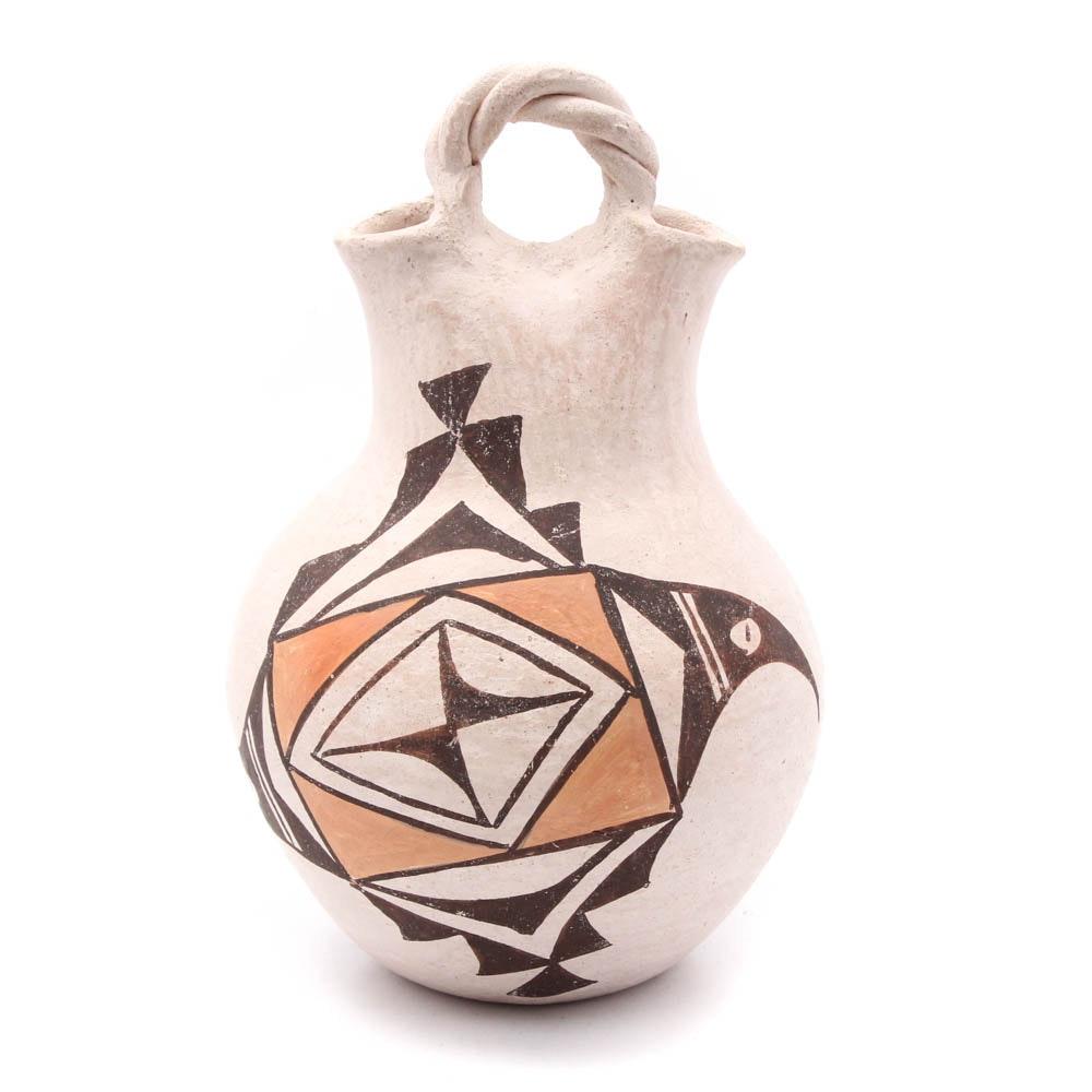 Signed E. Vallo Acoma Wedding Vase