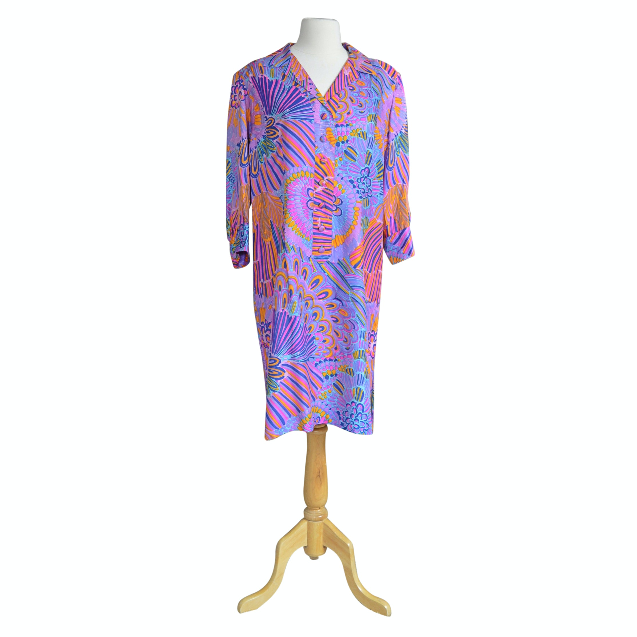 Women's Vintage Custom Silk Dress