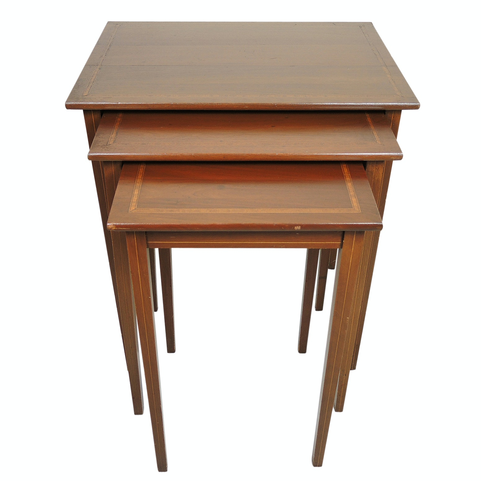 Wood Inlay Nesting Tables