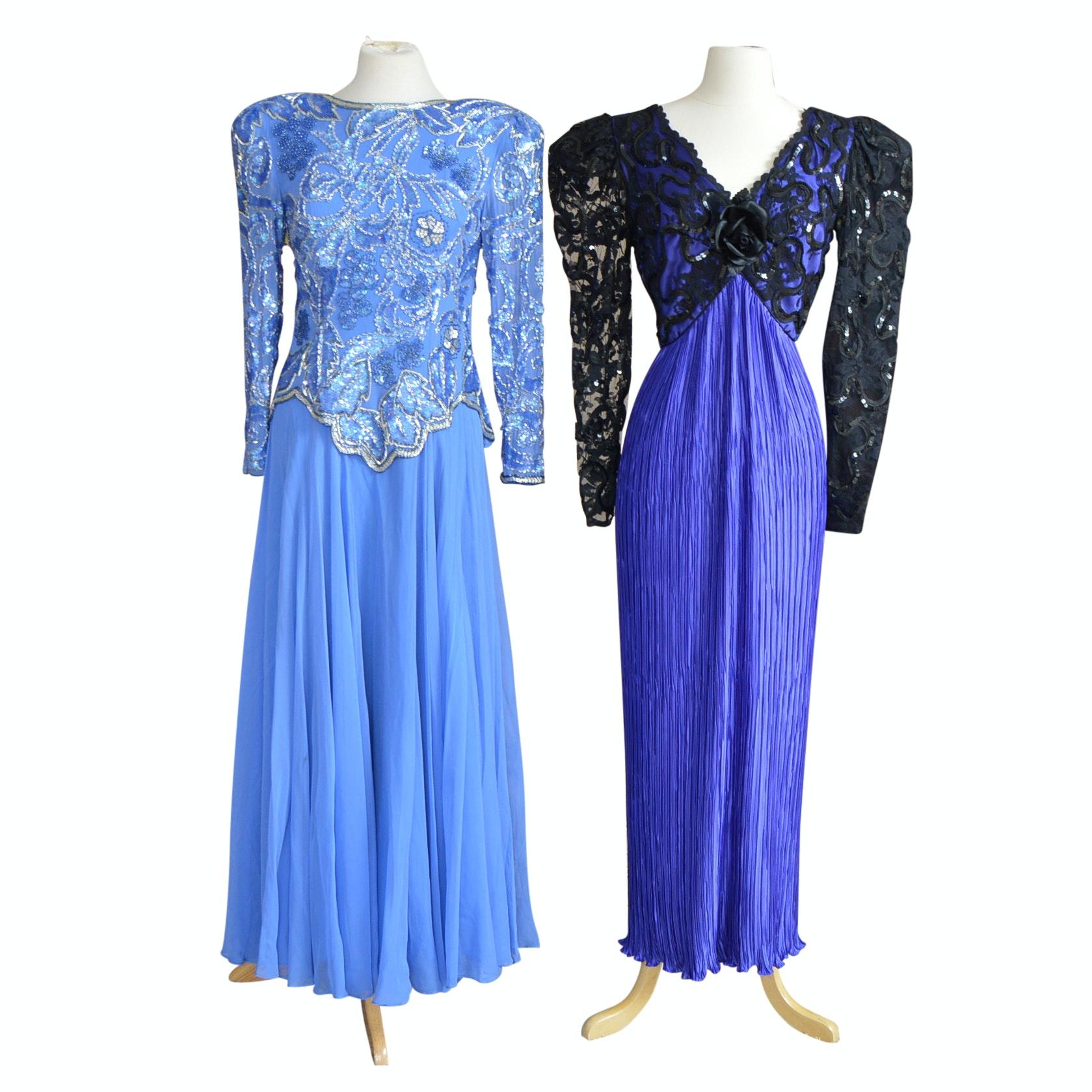 Women's Vintage Lilli Rubin and Oleg Cassini Formal Gowns