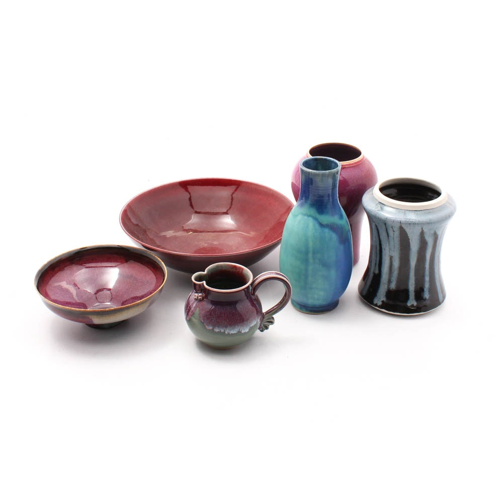 Hand-Thrown Porcelain and Stoneware Vases and Functional Ware