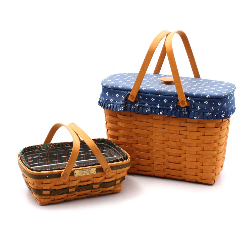 """Longaberger Baskets Including 1996 """"Holiday Cheer"""""""